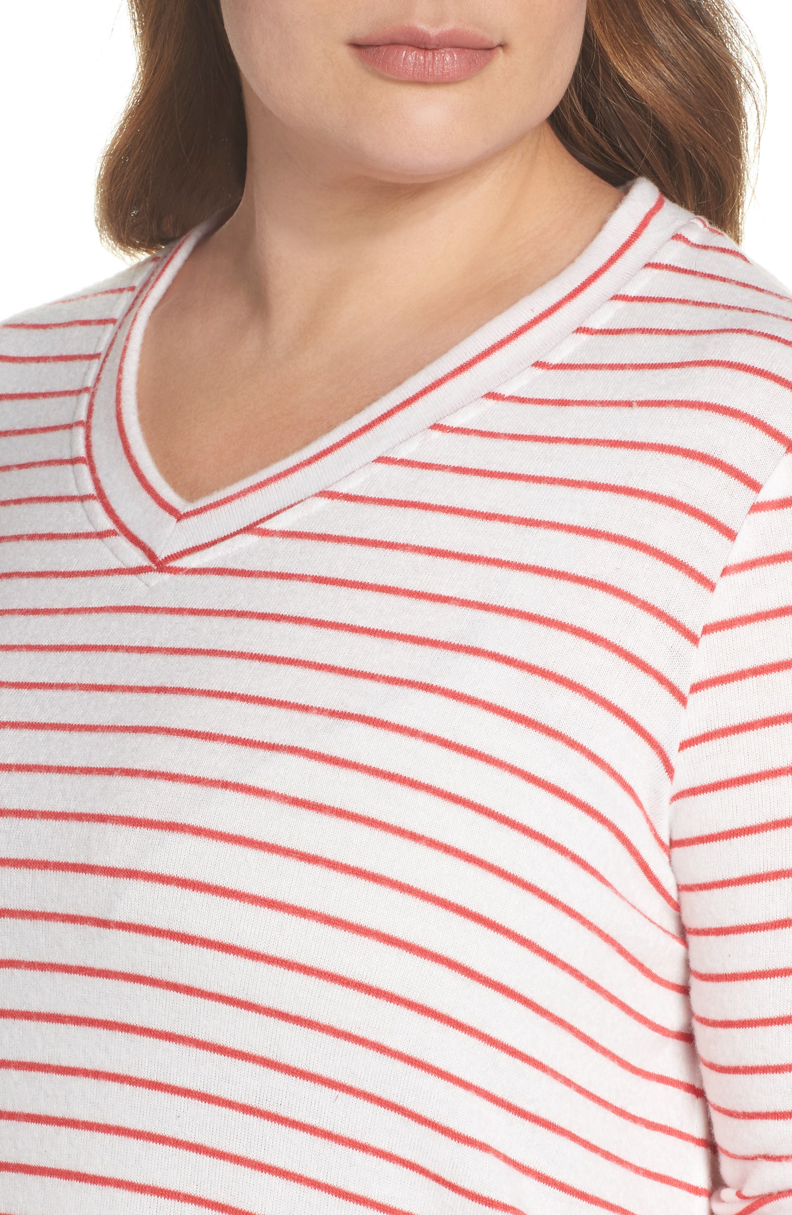 x Living in Yellow Steph Stripe Top,                             Alternate thumbnail 9, color,