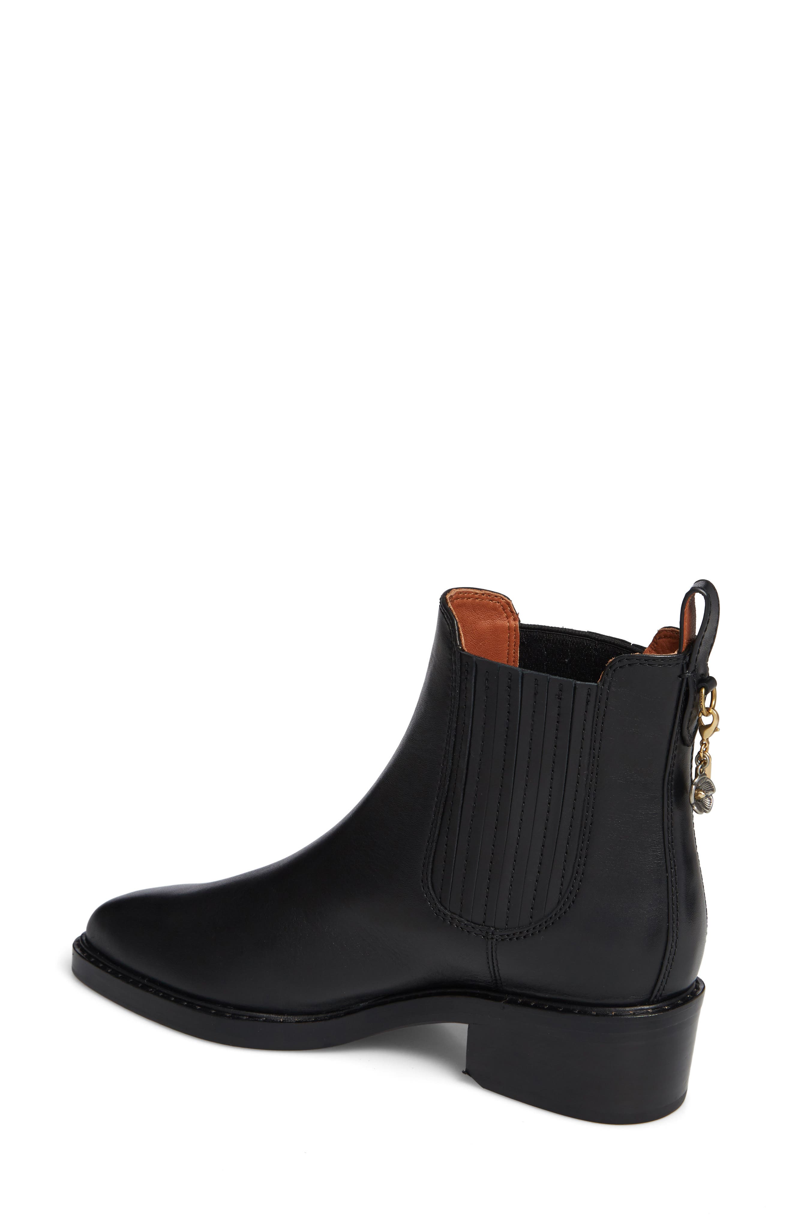 Bowery Chelsea Bootie,                             Alternate thumbnail 2, color,                             BLACK LEATHER