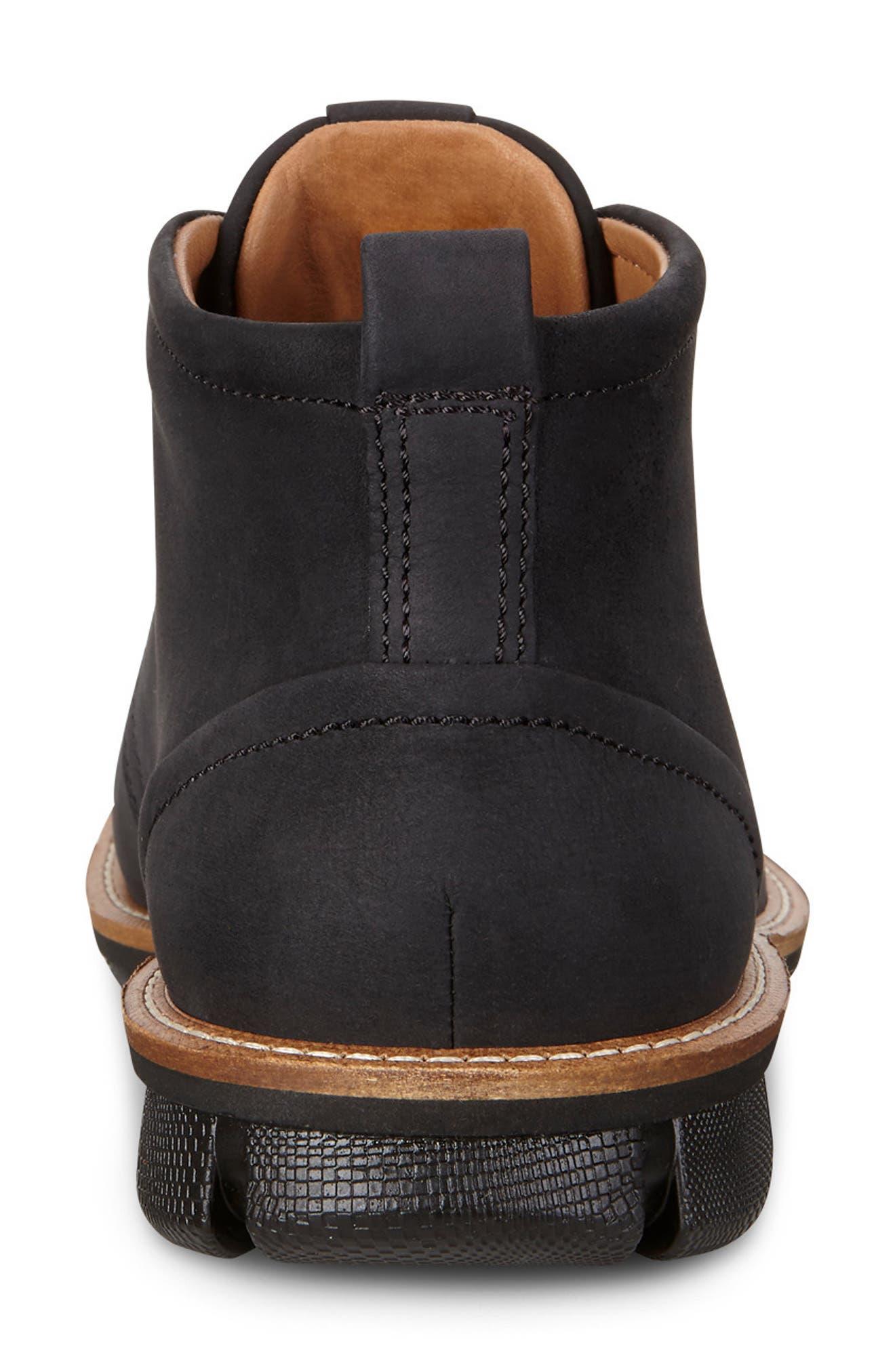 'Jeremy Hybrid' Plain Toe Boot,                             Alternate thumbnail 6, color,                             BLACK LEATHER