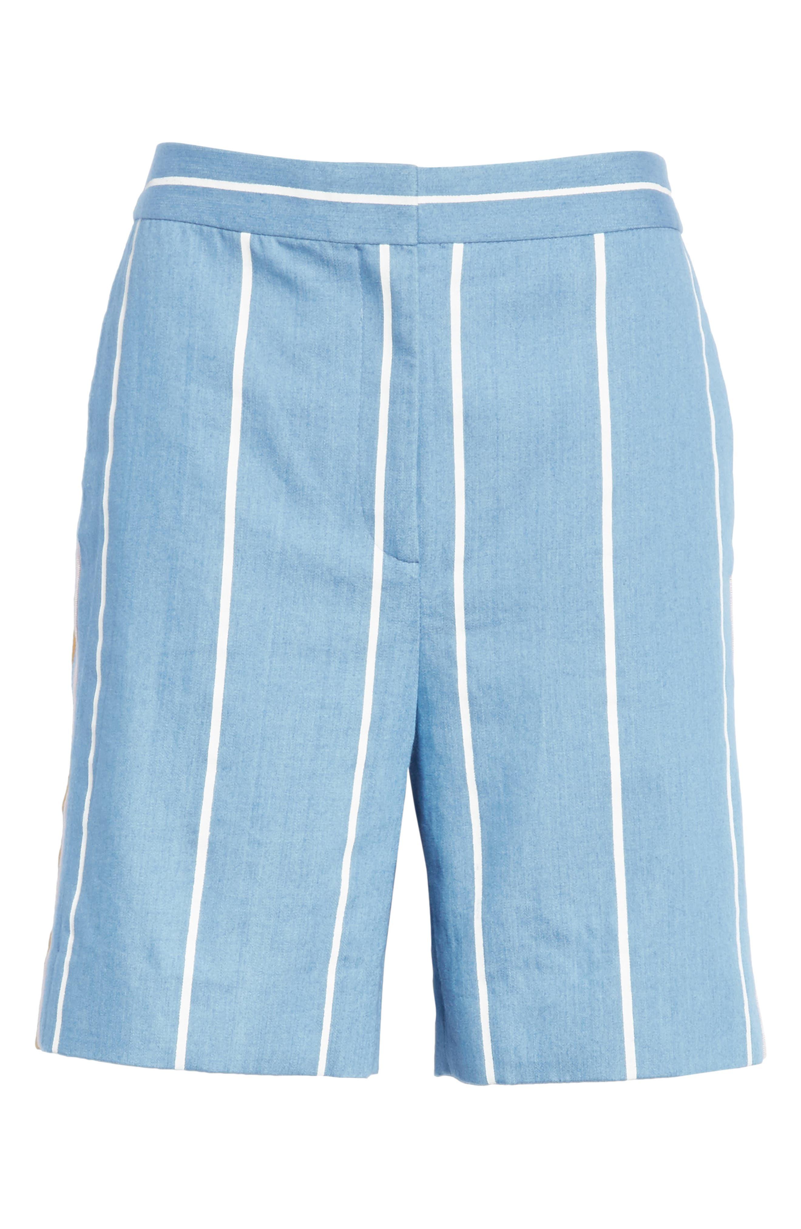 Stripe Slim Shorts,                             Alternate thumbnail 6, color,