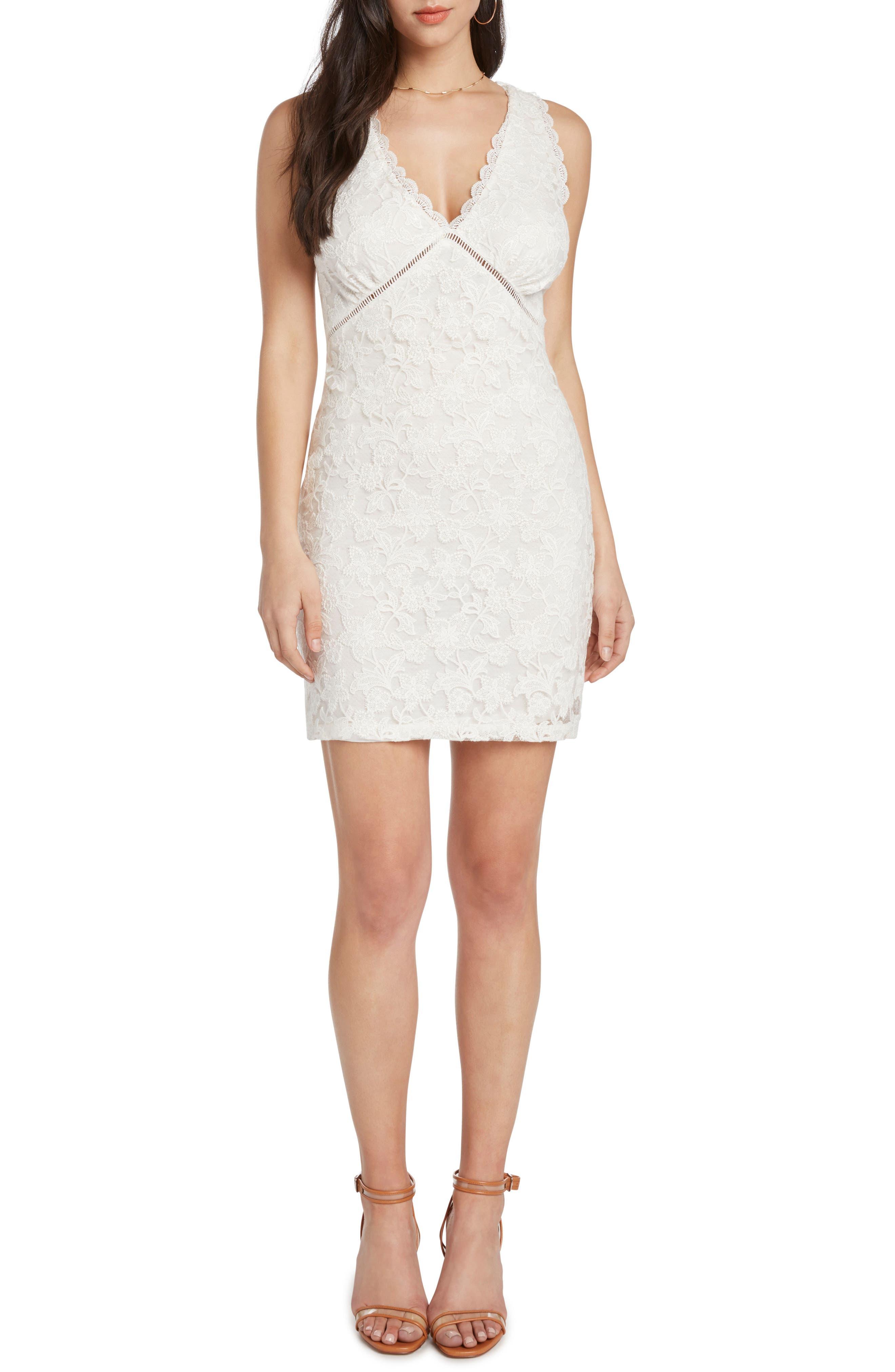 Lace Body-Con Dress,                             Main thumbnail 1, color,                             VELLUM