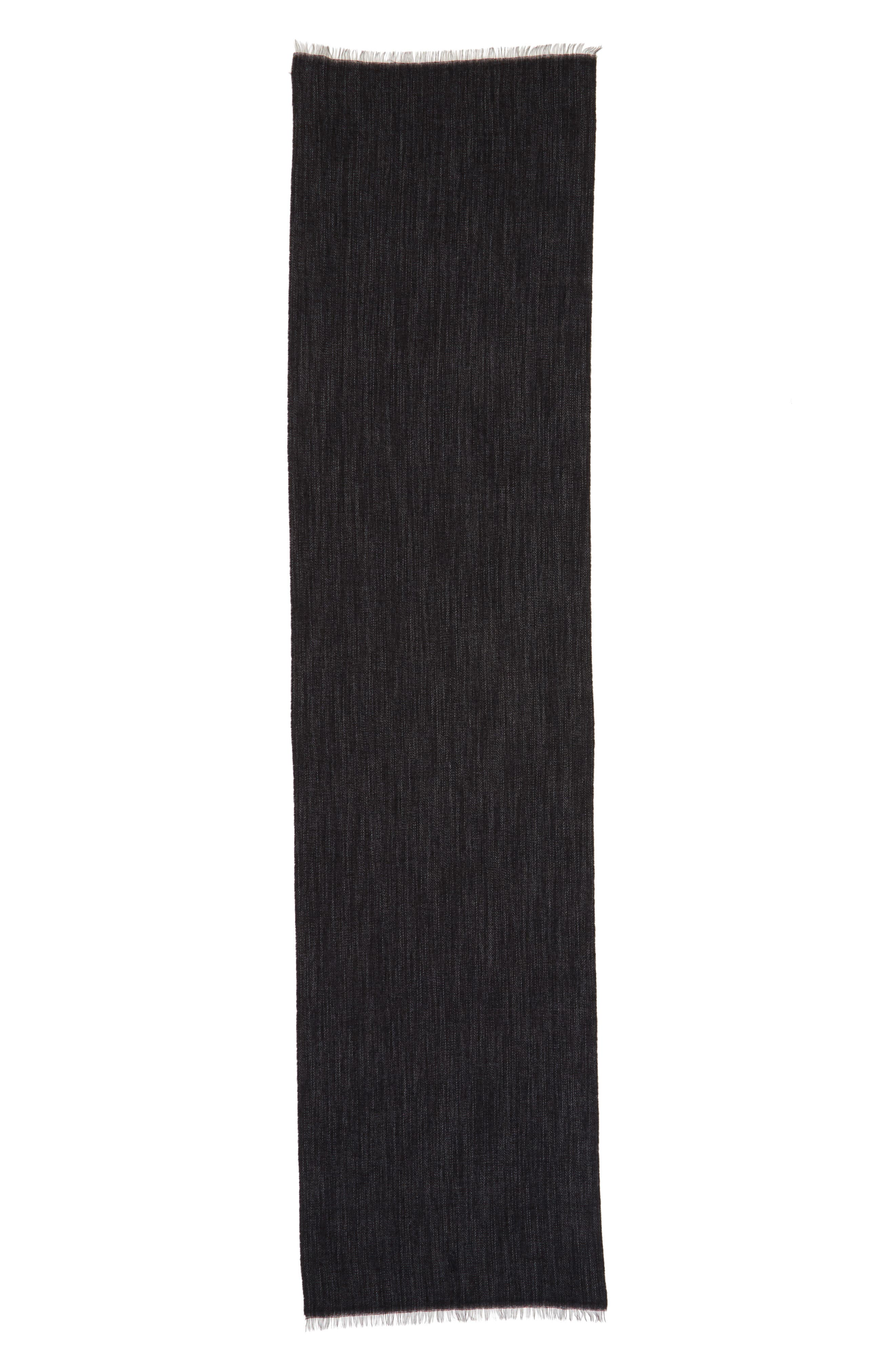 Délavé Lightweight Wool Blend Scarf,                             Alternate thumbnail 3, color,