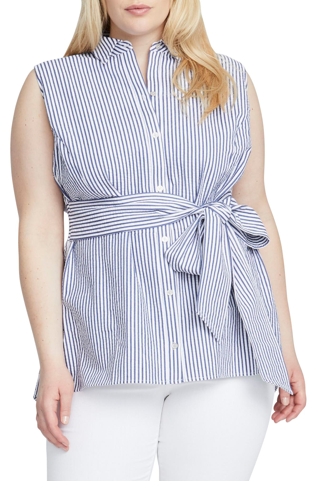 Esta Tunic,                         Main,                         color, WHITE/ BLUE COMBO