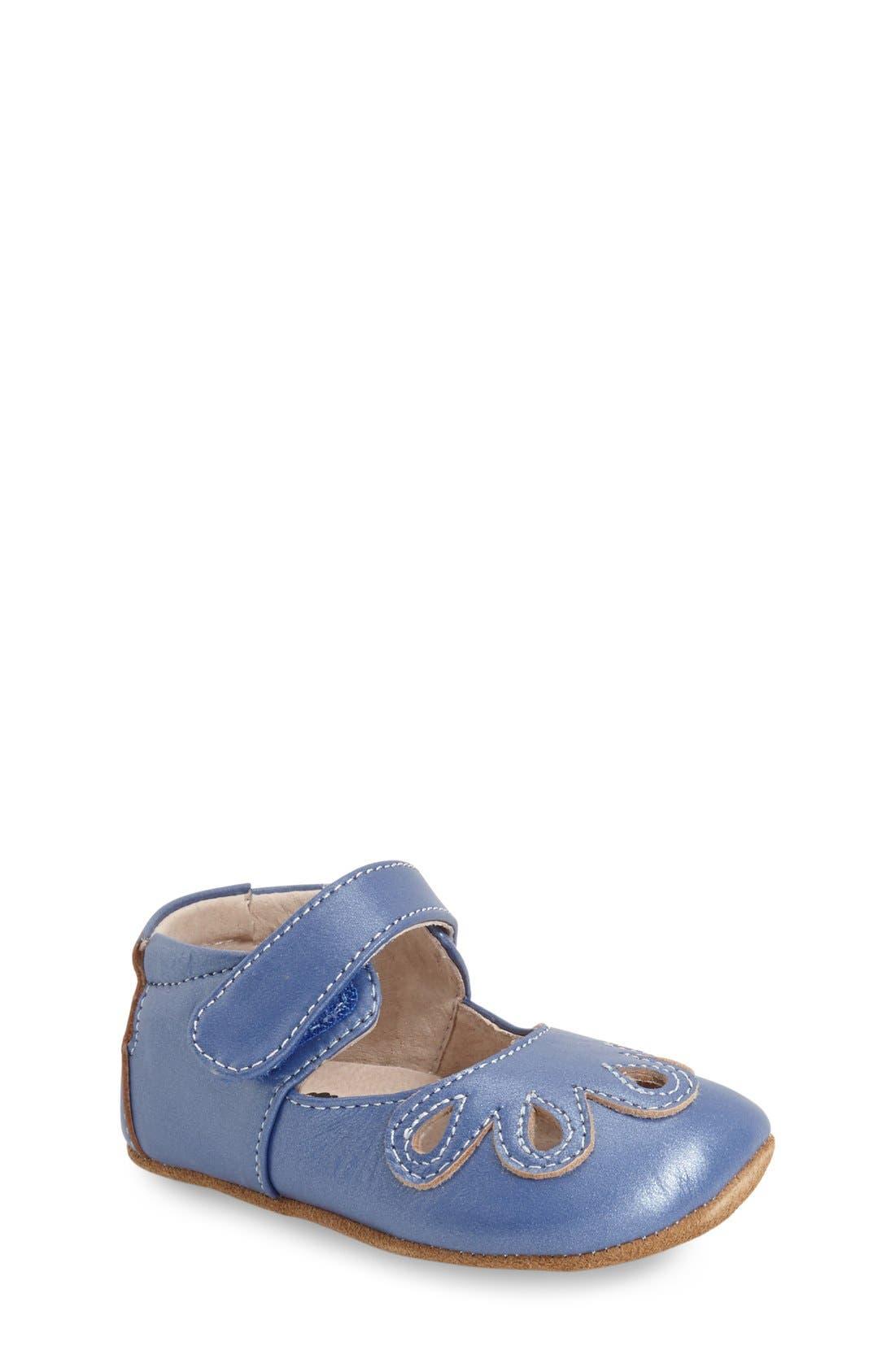 'Petal' Mary Jane Crib Shoe,                             Main thumbnail 3, color,