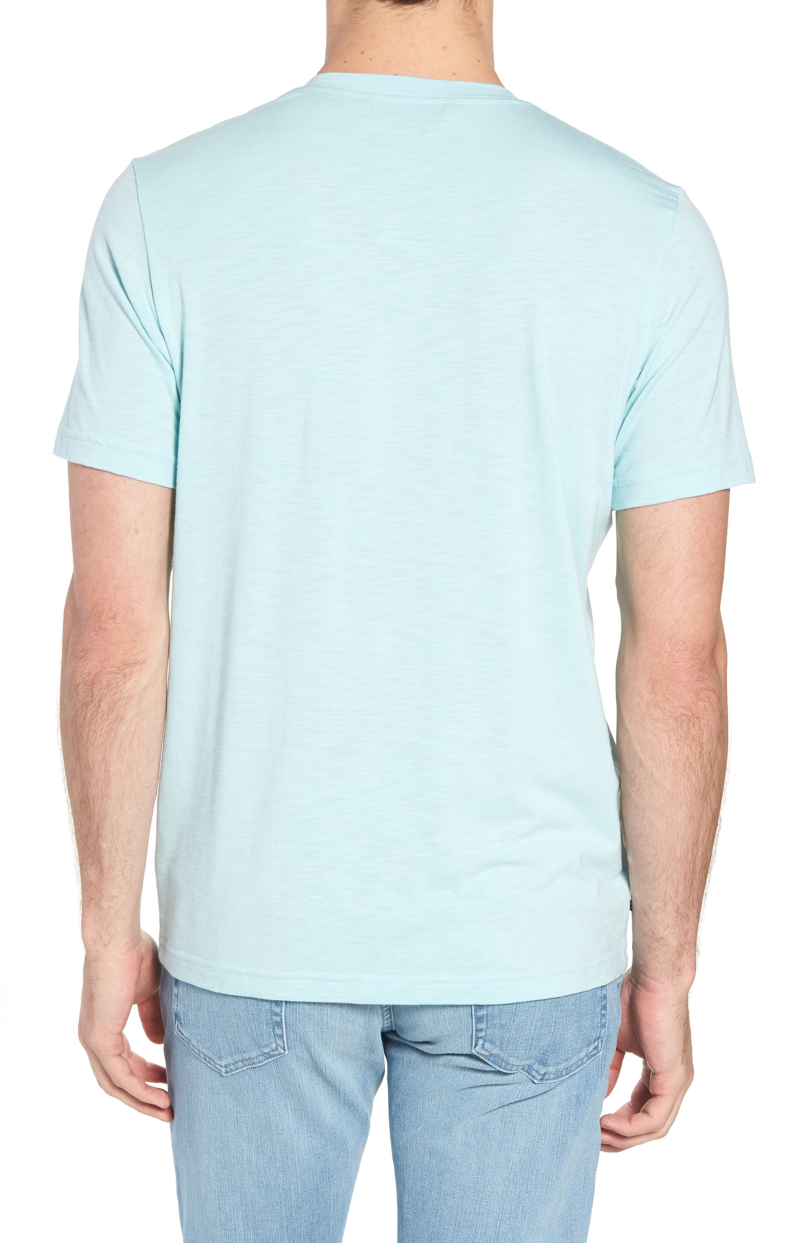 'Trumbull' Trim Fit Slubbed T-Shirt,                             Alternate thumbnail 2, color,                             PORCELAIN BLUE