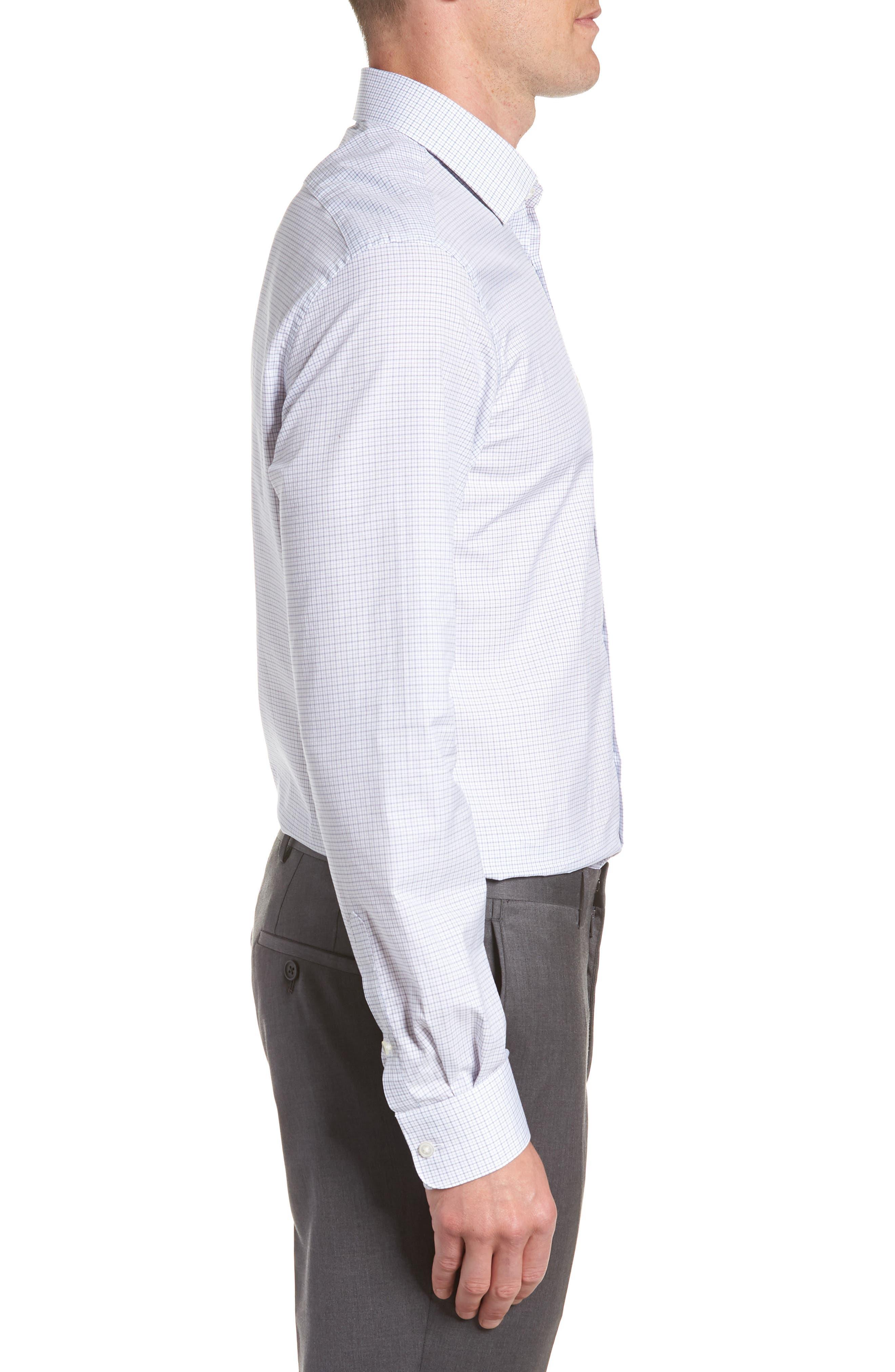 JOHN VARVATOS STAR USA,                             Micro Plaid Regular Fit Dress Shirt,                             Alternate thumbnail 4, color,                             428