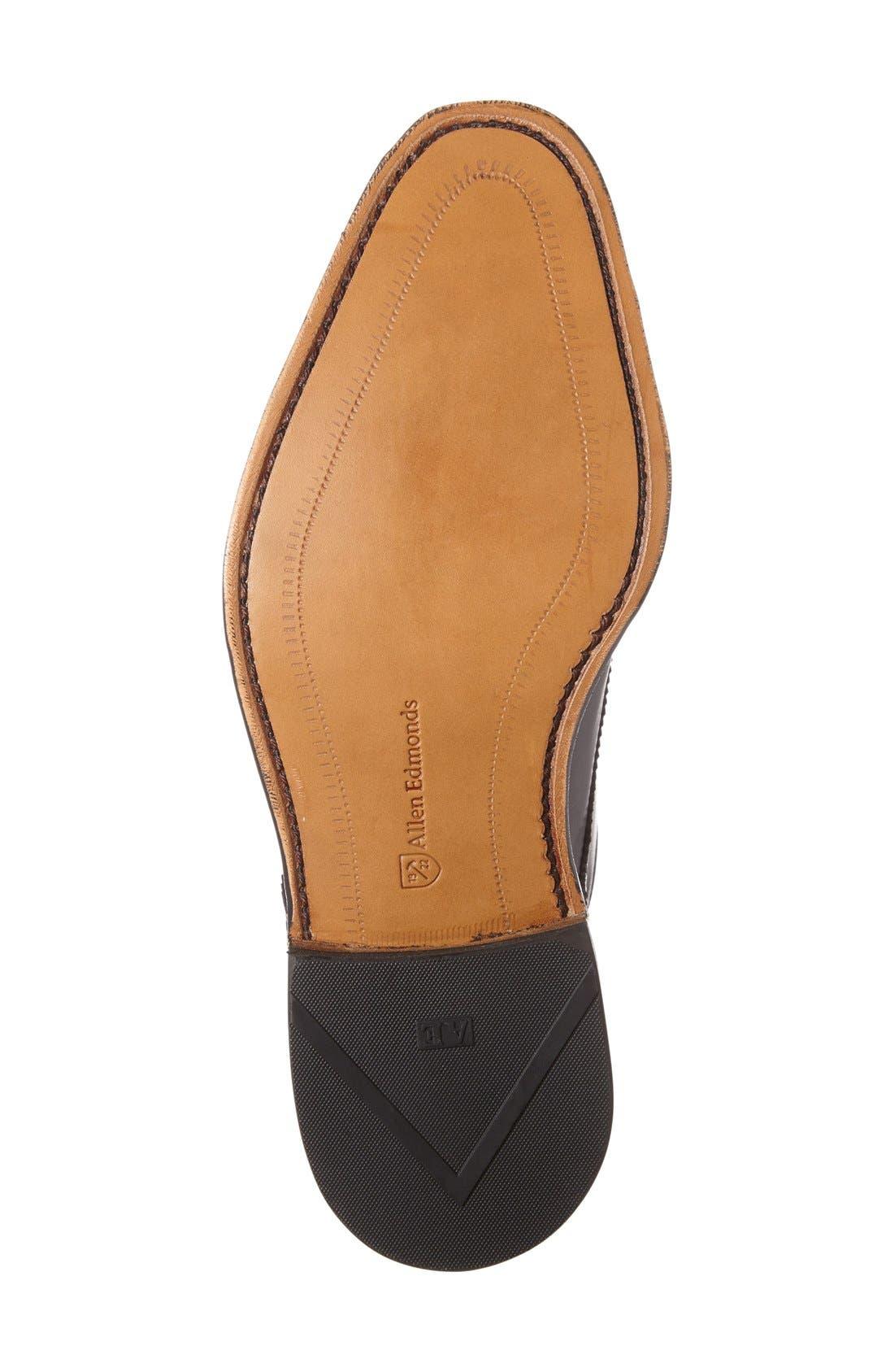 'St. Johns' Double Monk Strap Shoe,                             Alternate thumbnail 4, color,                             BLACK LEATHER