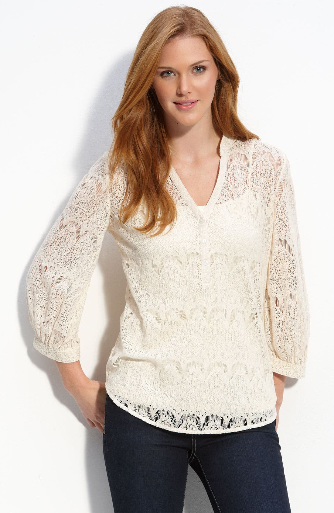 'Ali' Lace Blouse,                             Main thumbnail 1, color,                             903