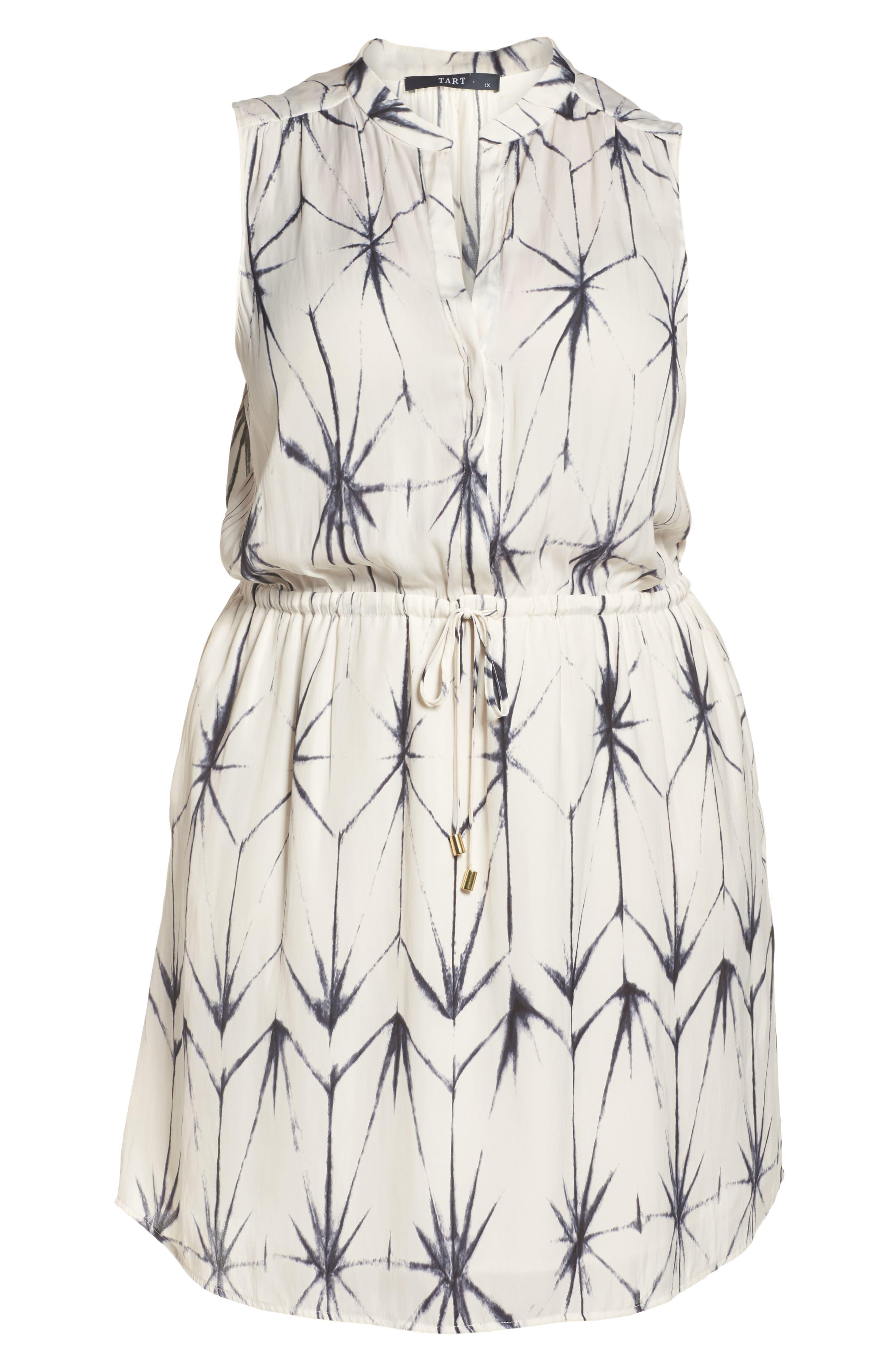 Calla Blouson Dress,                             Alternate thumbnail 6, color,                             100