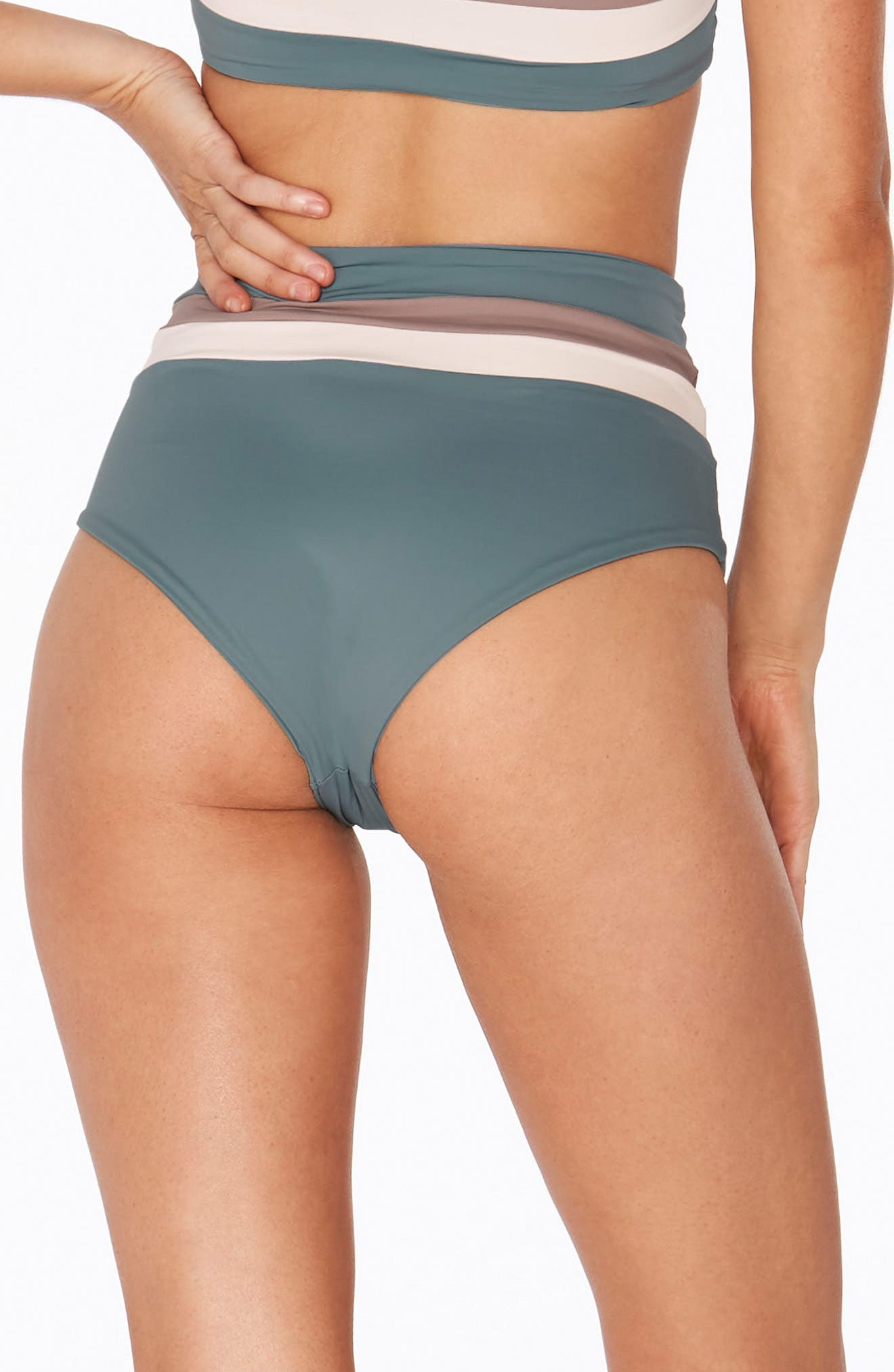 Portia Reversible Colorblock Bikini Bottoms,                             Alternate thumbnail 5, color,