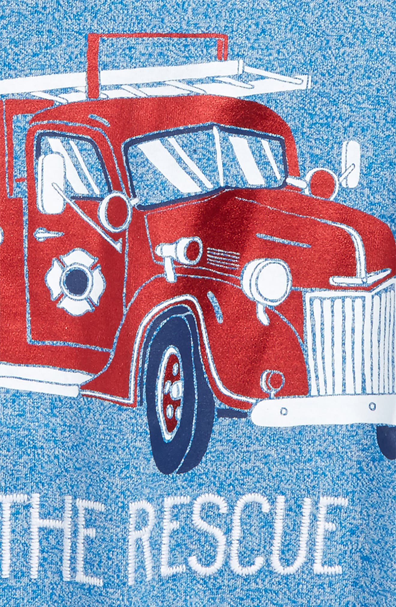 To the Rescue Fire Truck T-Shirt,                             Alternate thumbnail 2, color,