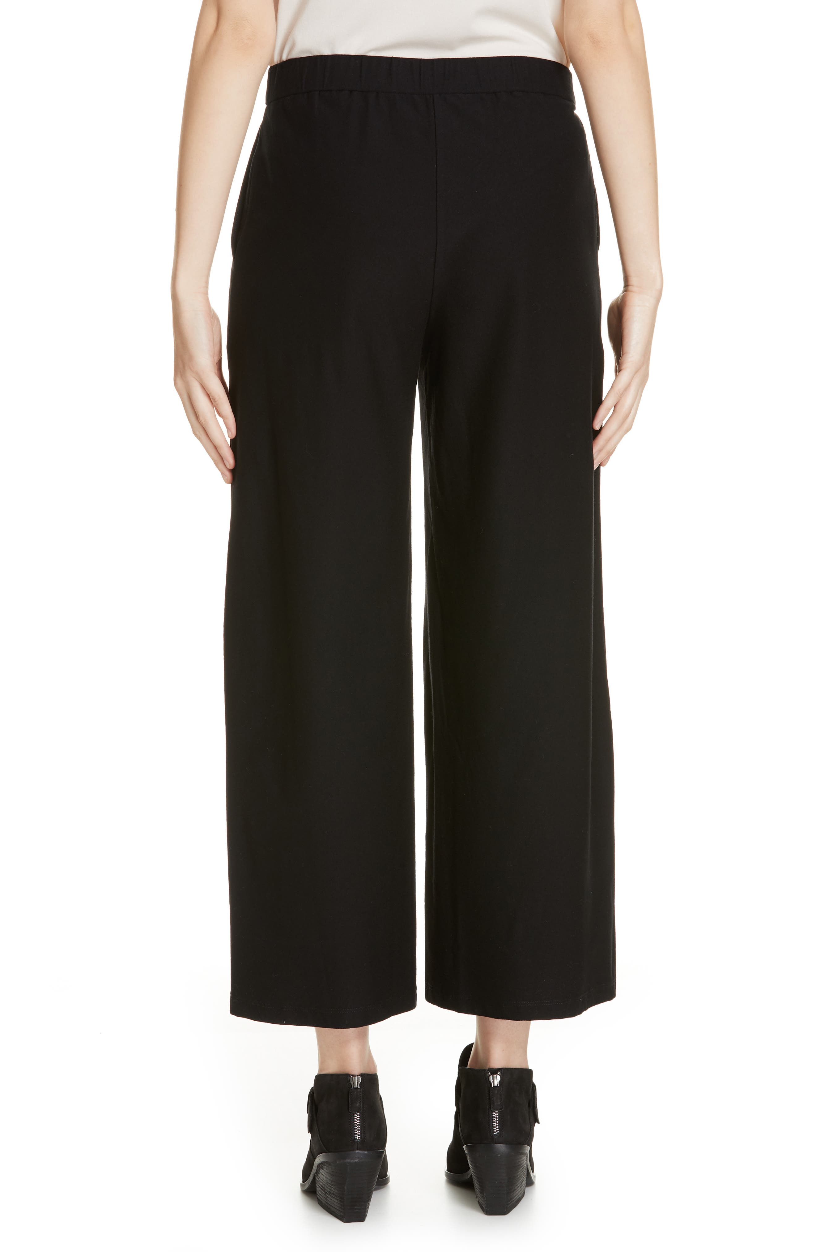 High Waist Ankle Pants,                             Alternate thumbnail 2, color,                             BLACK
