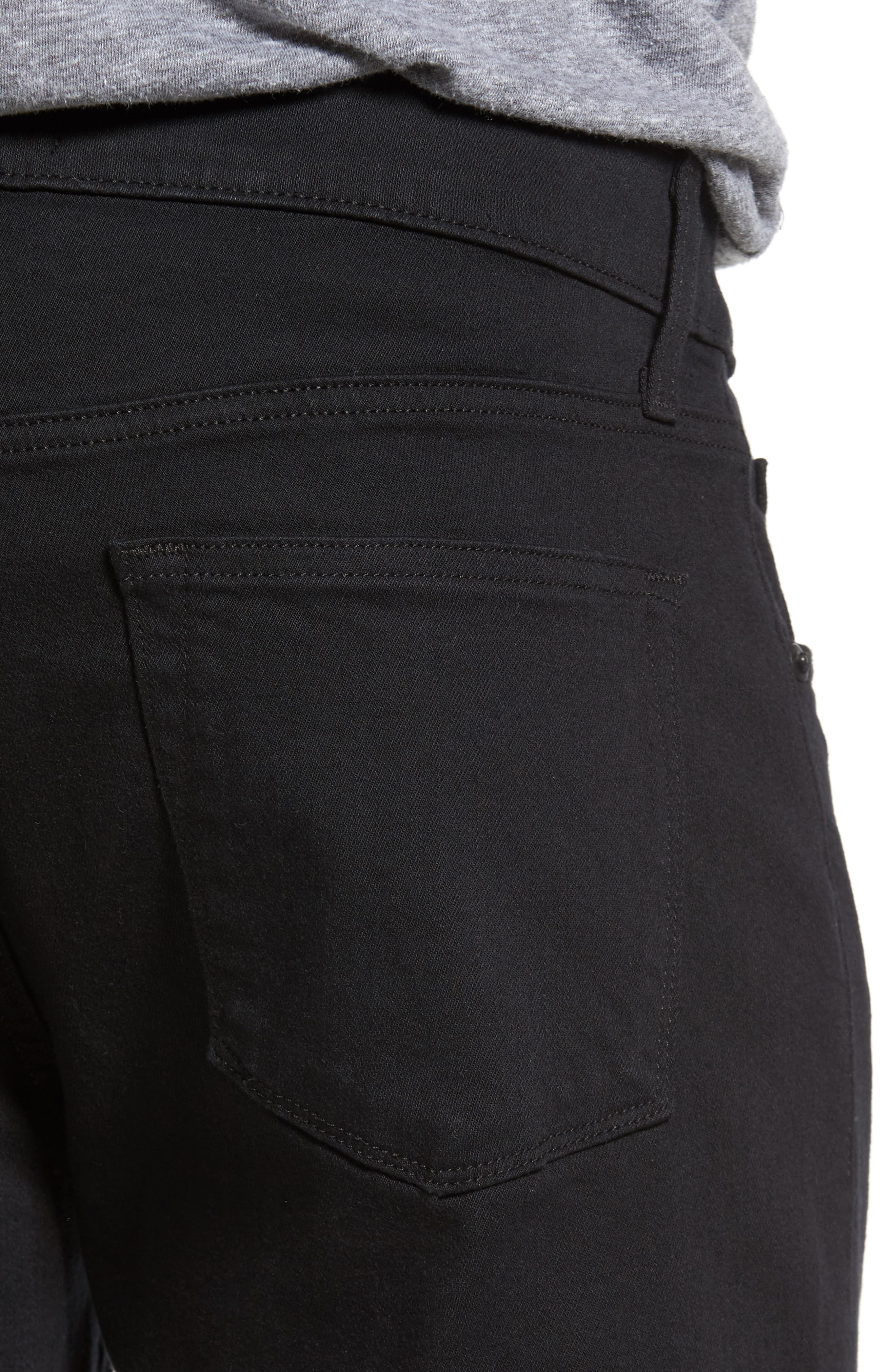 Tyler Slim Fit Jeans,                             Alternate thumbnail 4, color,                             SERIOUSLY BLACK