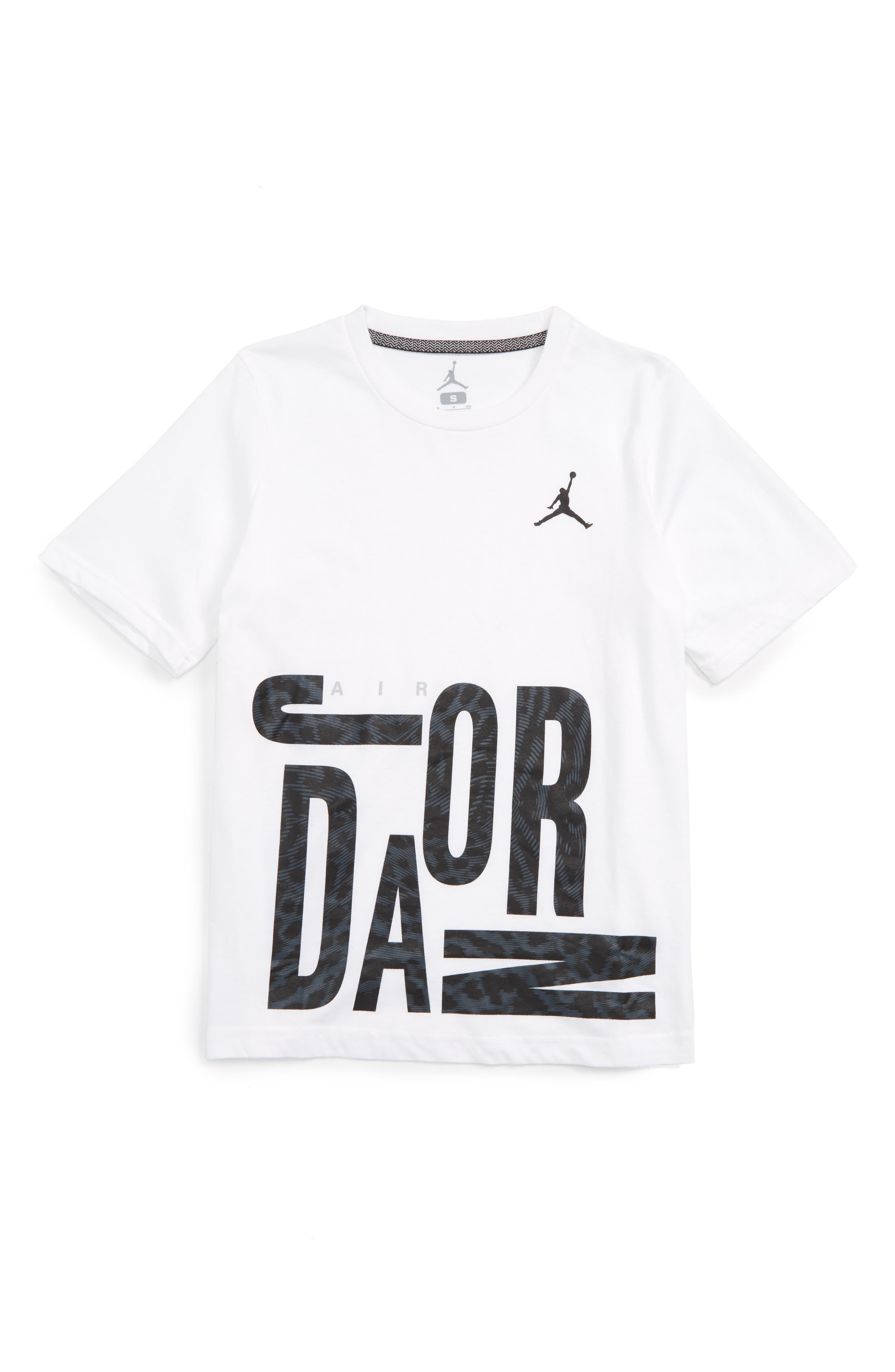 JORDAN Oversize All Shoe Graphic T-Shirt, Main, color, 100