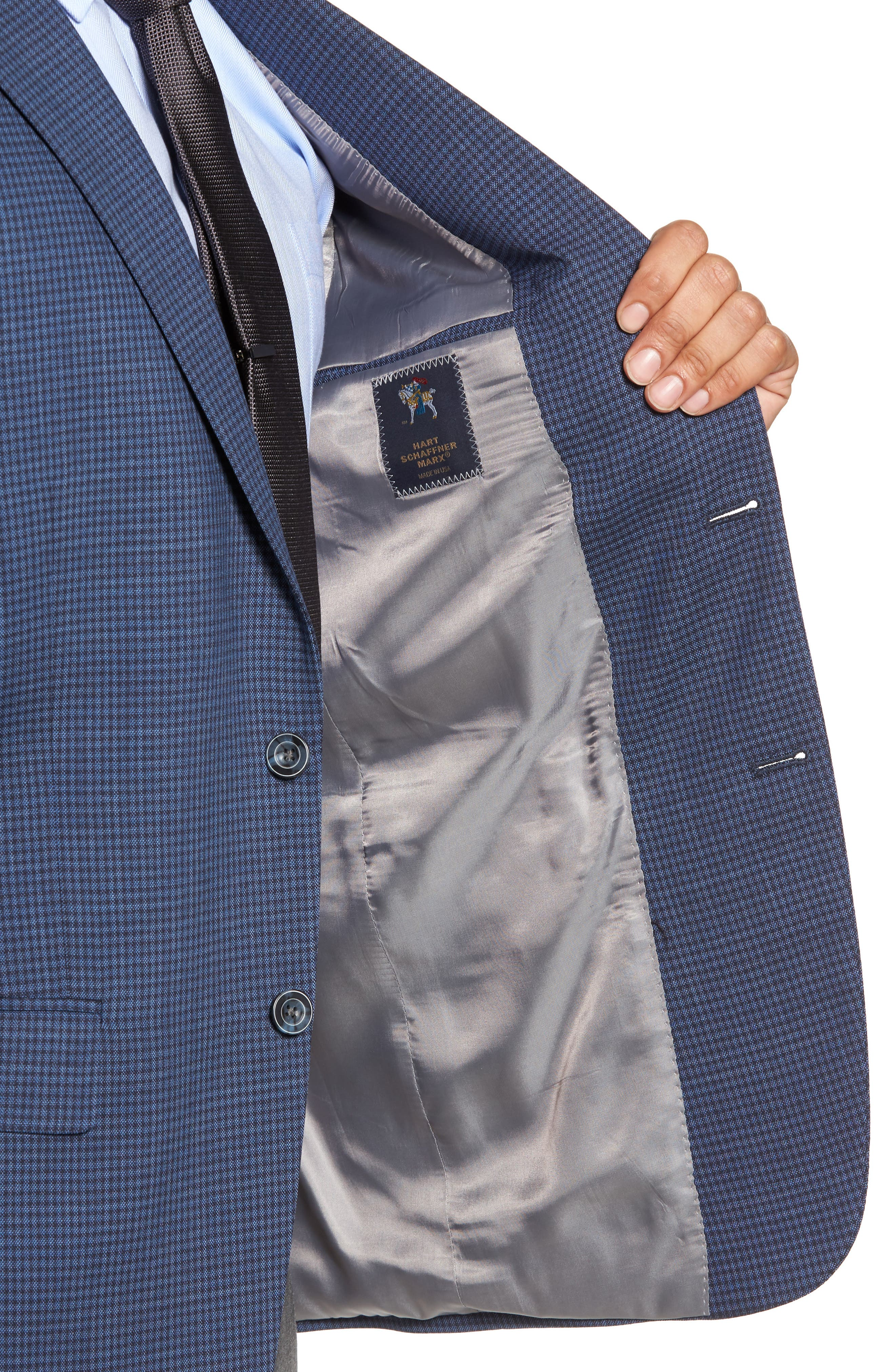Classic Fit Stretch Check Wool Sport Coat,                             Alternate thumbnail 4, color,                             410