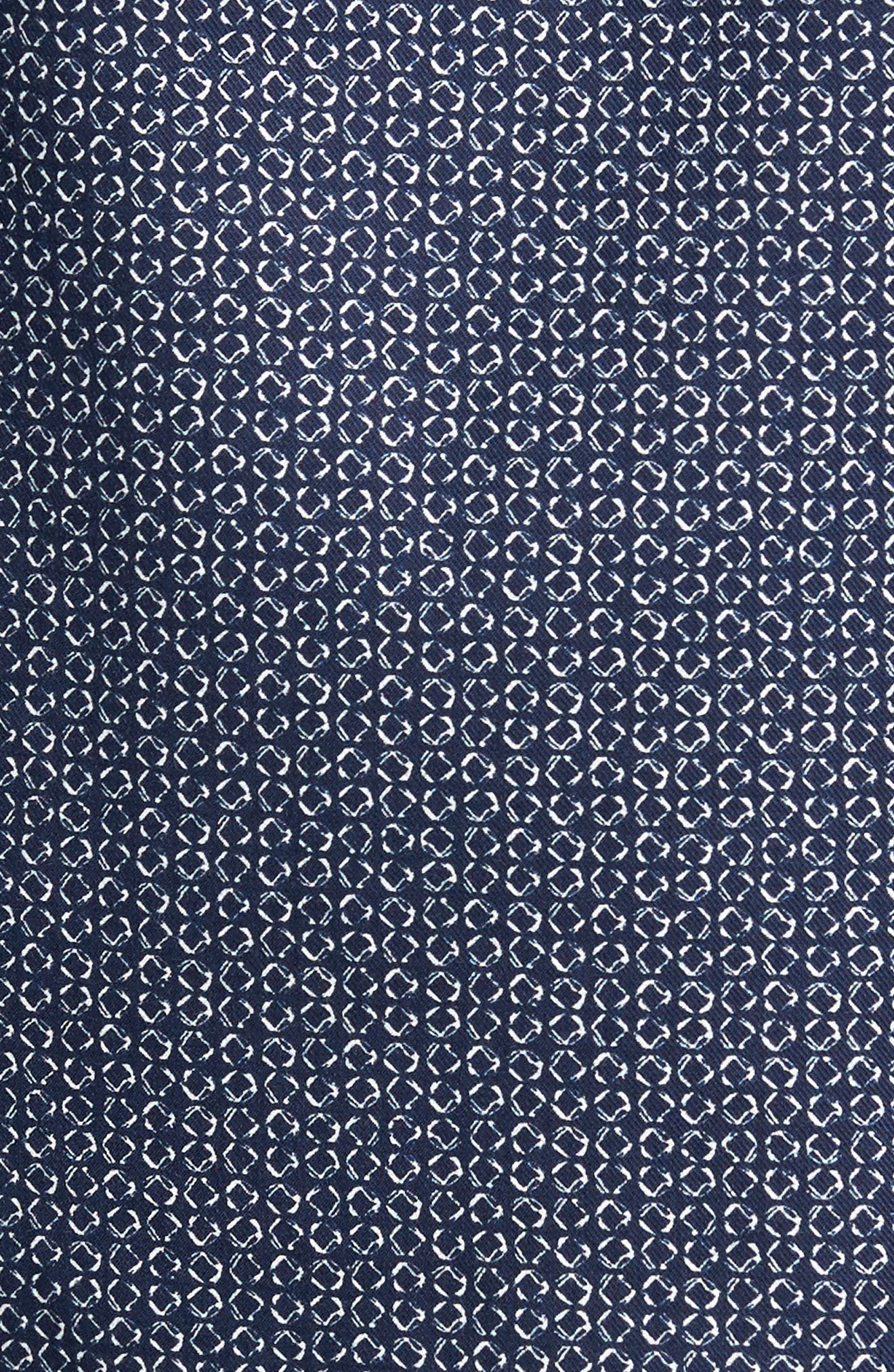 Trim Fit Abstract Print Sport Shirt,                             Alternate thumbnail 5, color,                             400