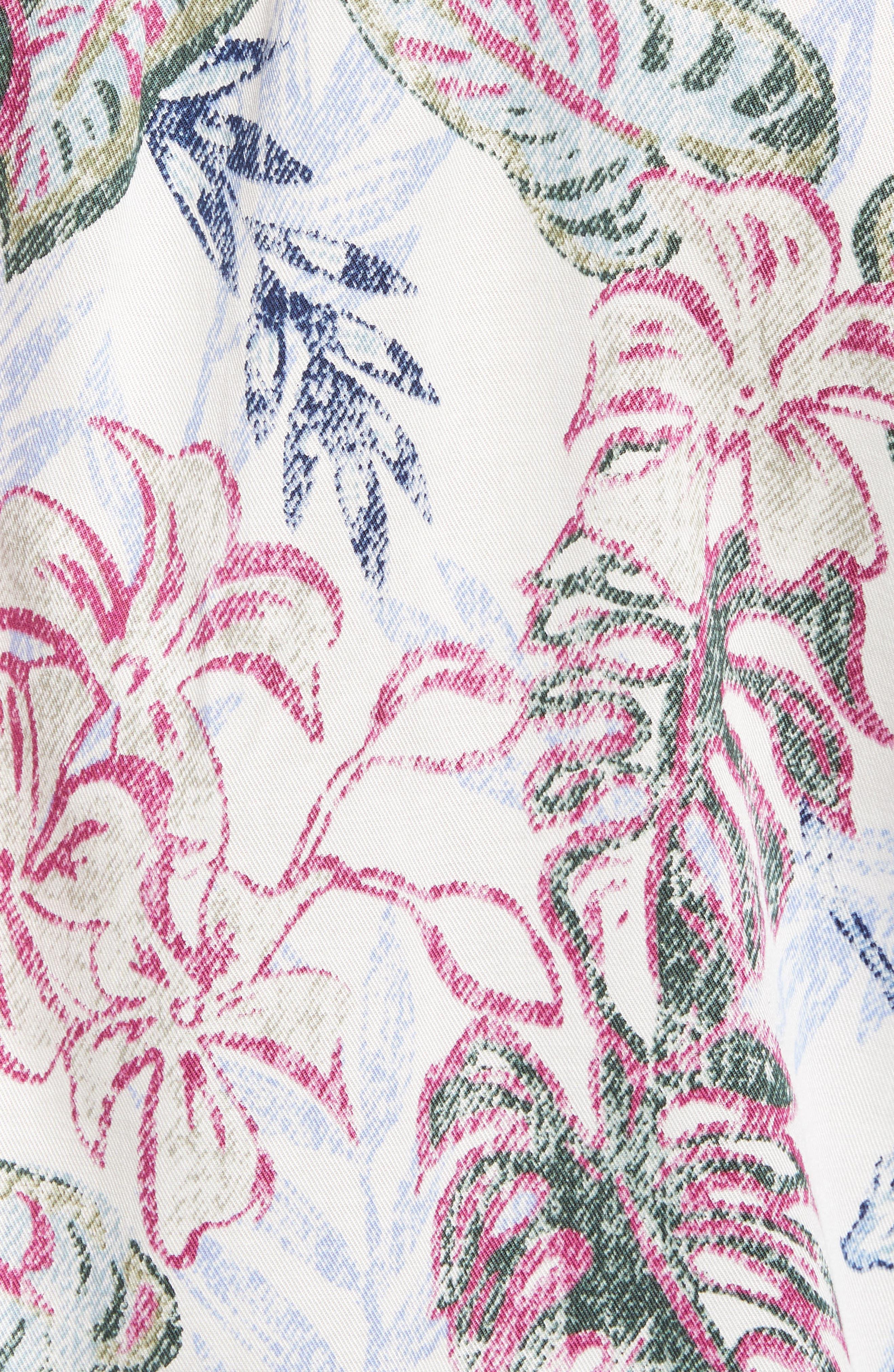 Diego Fronds Jacquard Short Shirt,                             Alternate thumbnail 5, color,                             DEEP MOREL