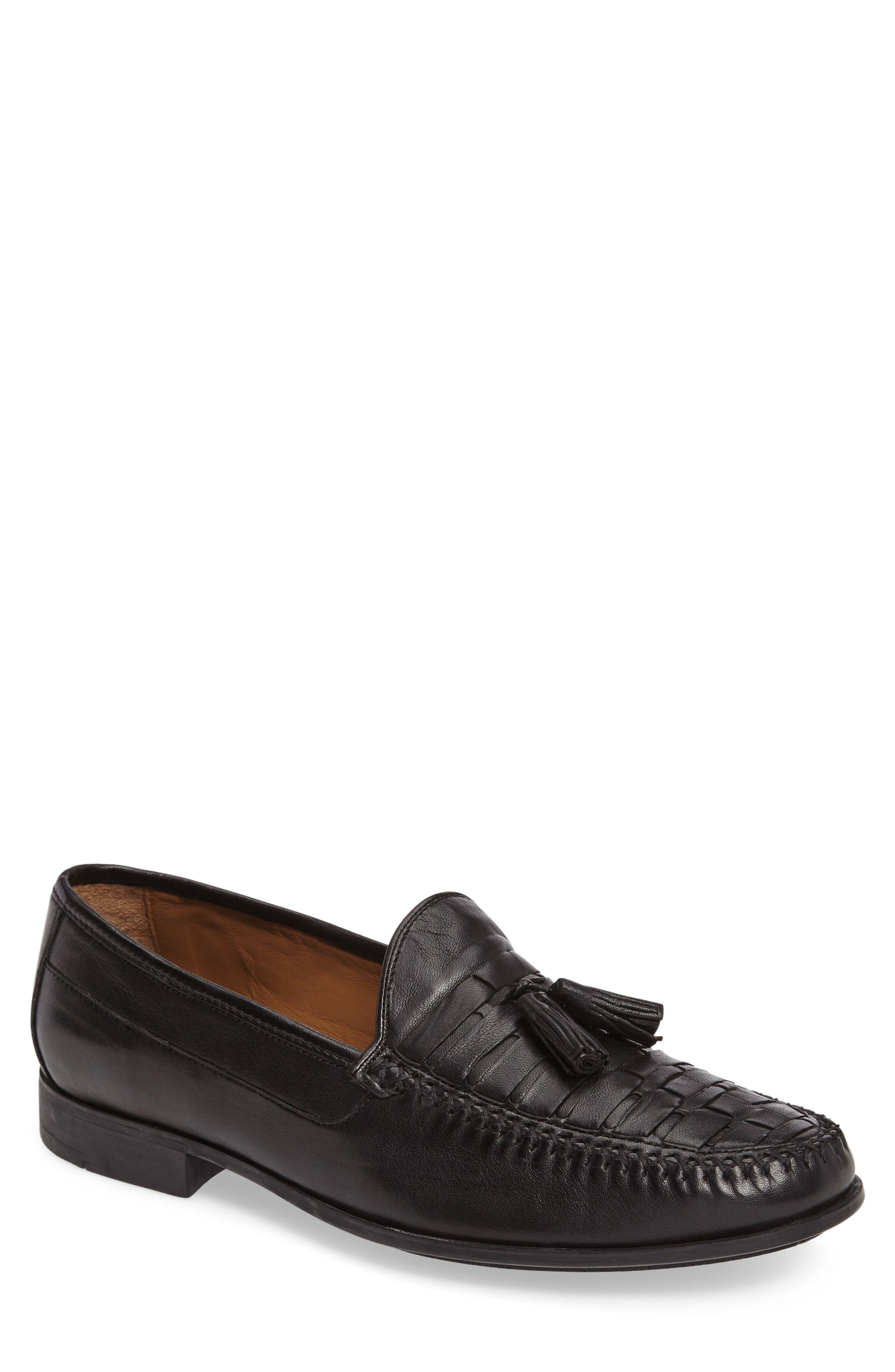 Cresswell Woven Tassel Loafer,                             Main thumbnail 1, color,                             001