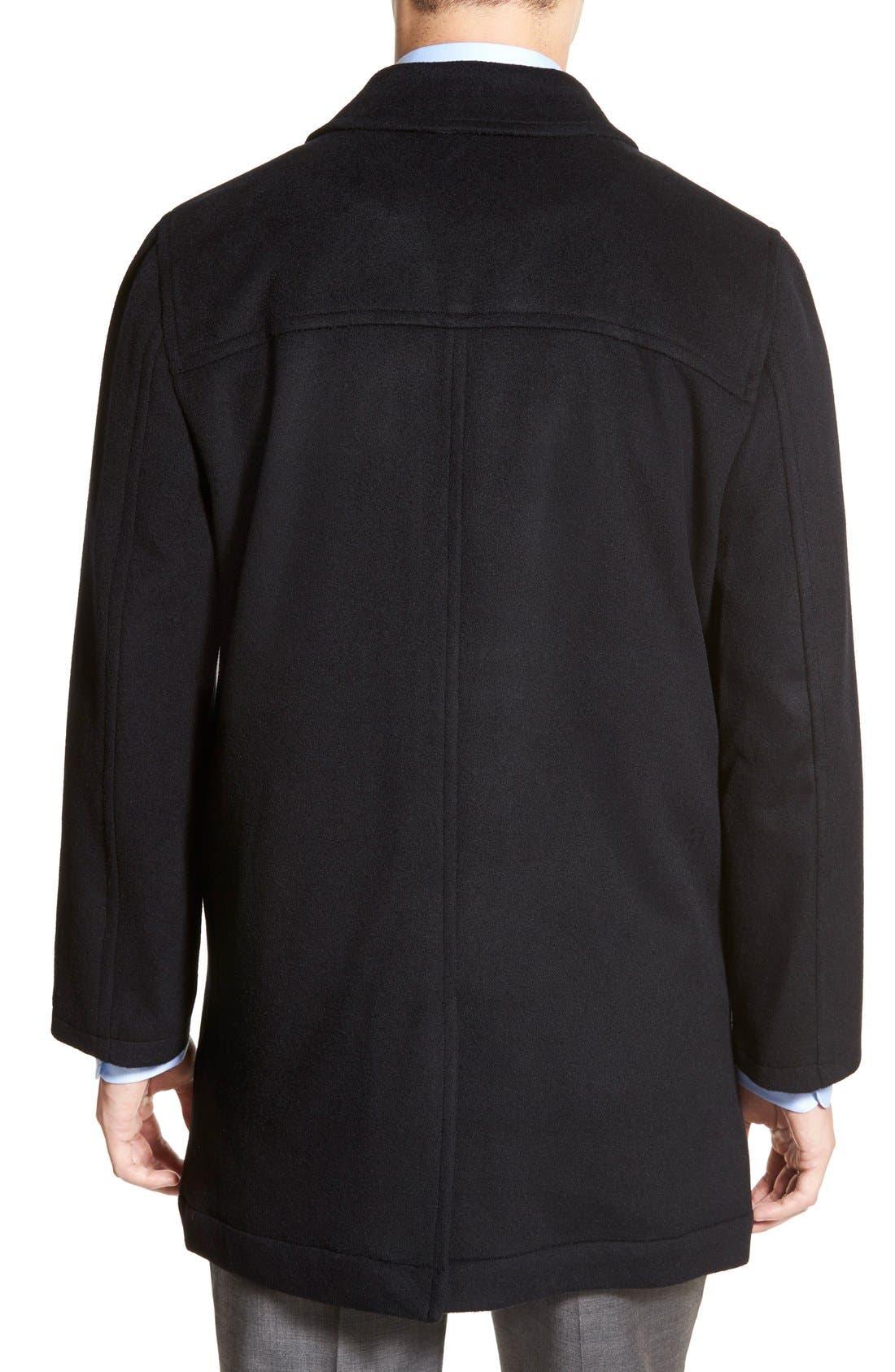 Douglas Modern Fit Wool & Cashmere Overcoat,                             Alternate thumbnail 4, color,