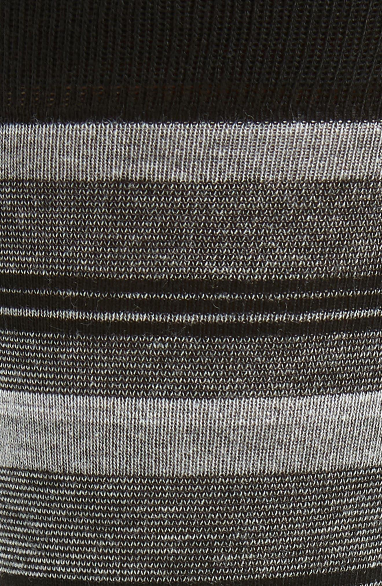 Blocked Fine Stripe Socks,                             Alternate thumbnail 2, color,                             BLACK/ GREY