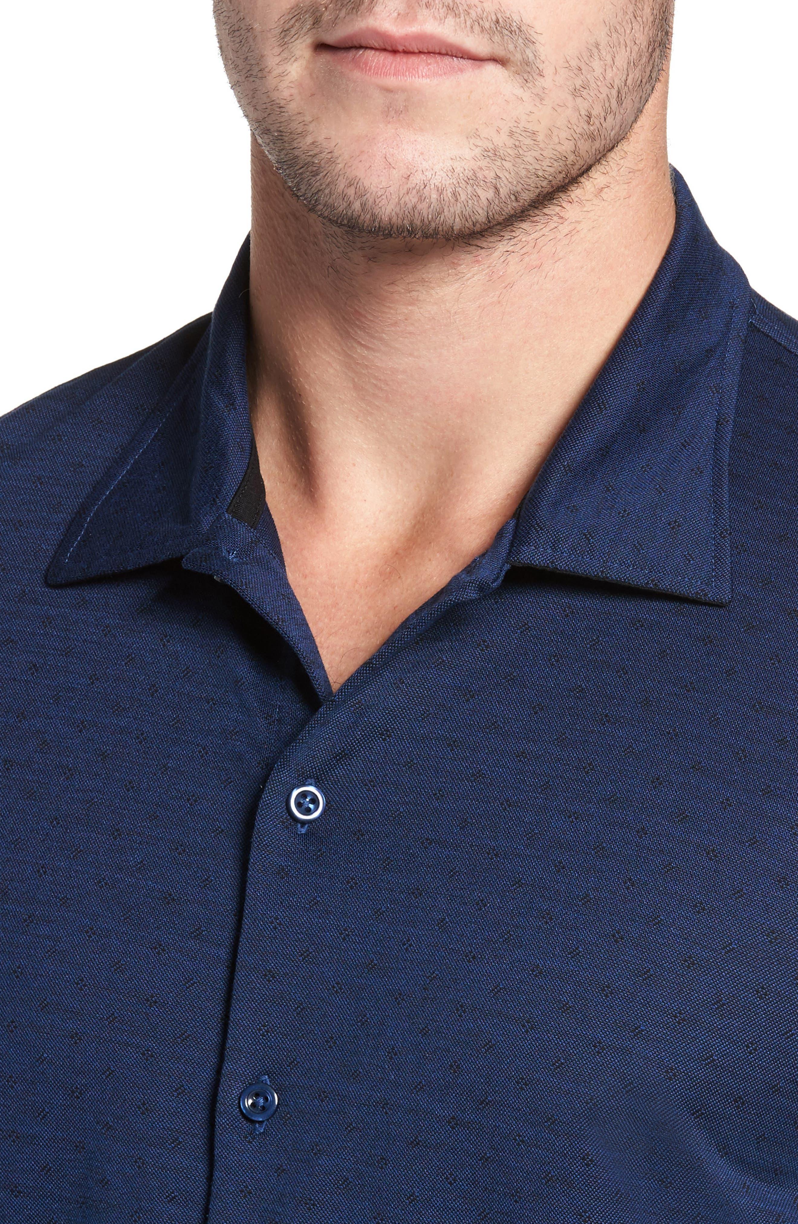 Jacquard Knit Sport Shirt,                             Alternate thumbnail 15, color,