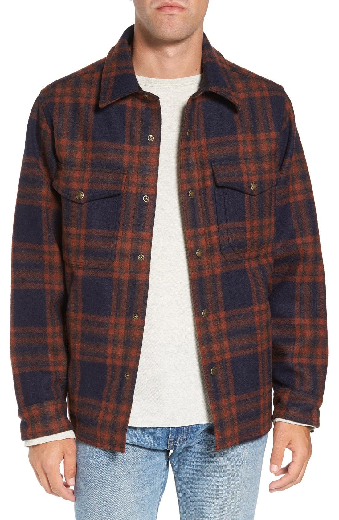'Macinaw' Plaid Wool Flannel Shirt Jacket,                             Main thumbnail 2, color,
