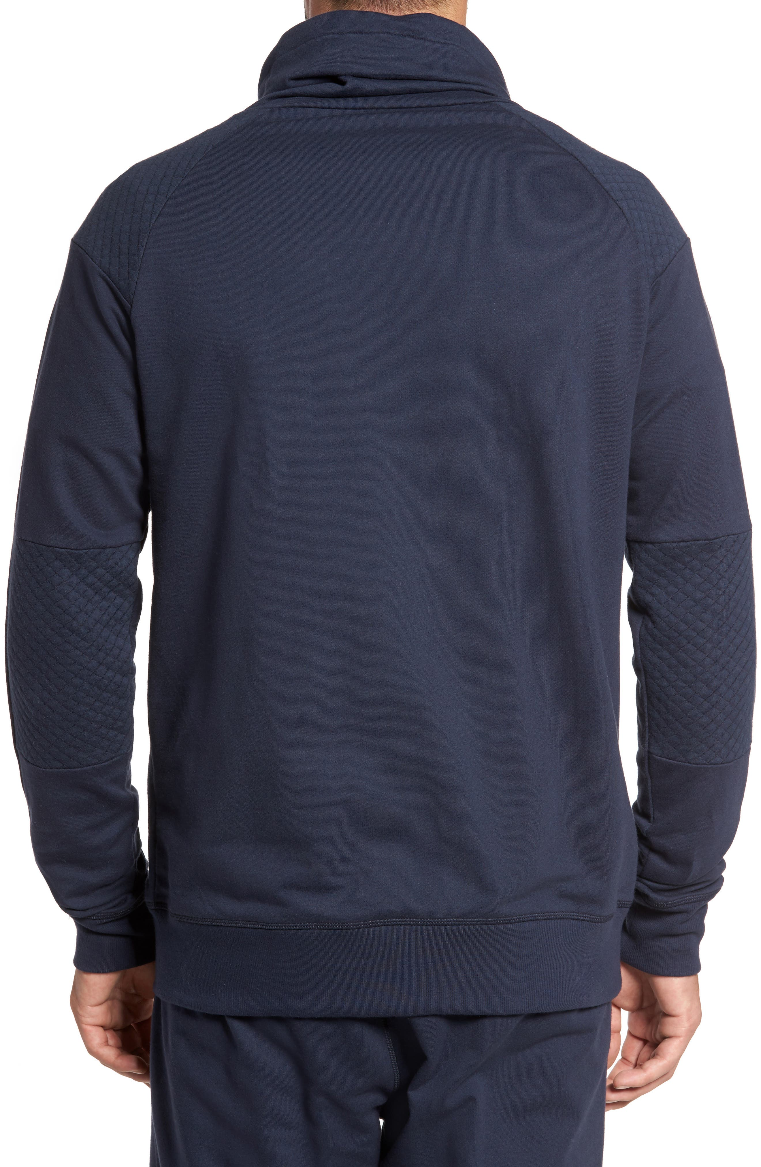 Quilted Funnel Neck Pullover,                             Alternate thumbnail 4, color,