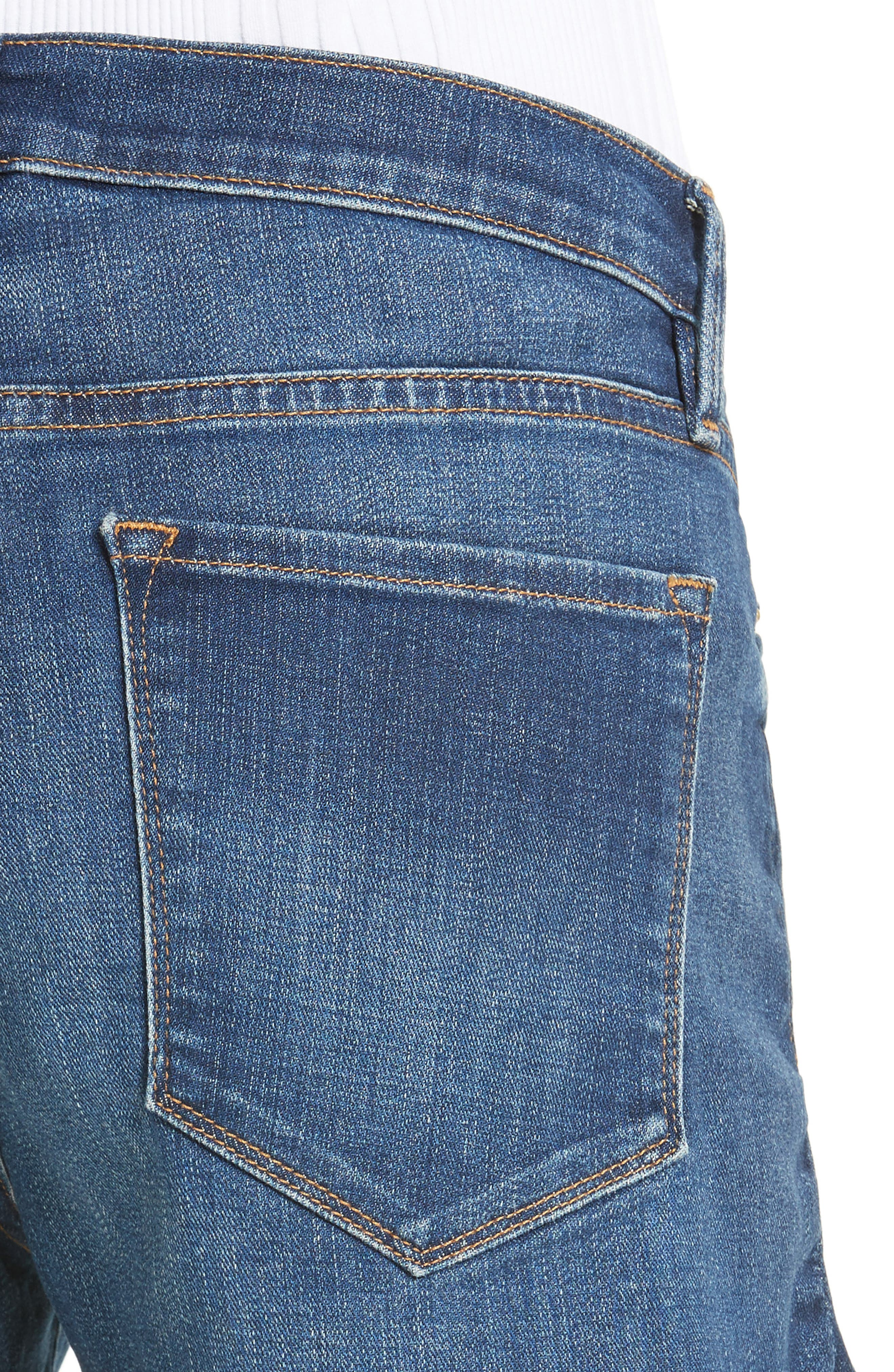 Le Cutoff Denim Shorts,                             Alternate thumbnail 4, color,                             WILLIAMS