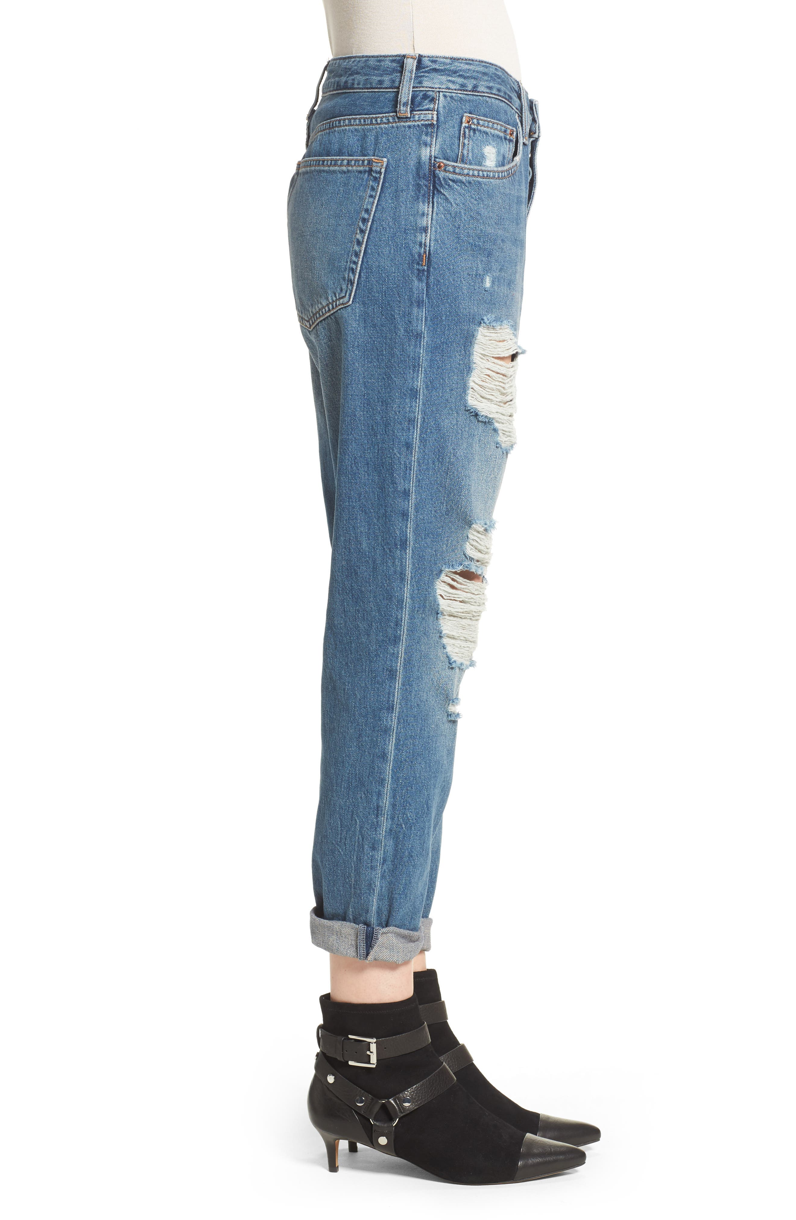 Hayden Super Ripped Boyfriend Jeans,                             Alternate thumbnail 3, color,