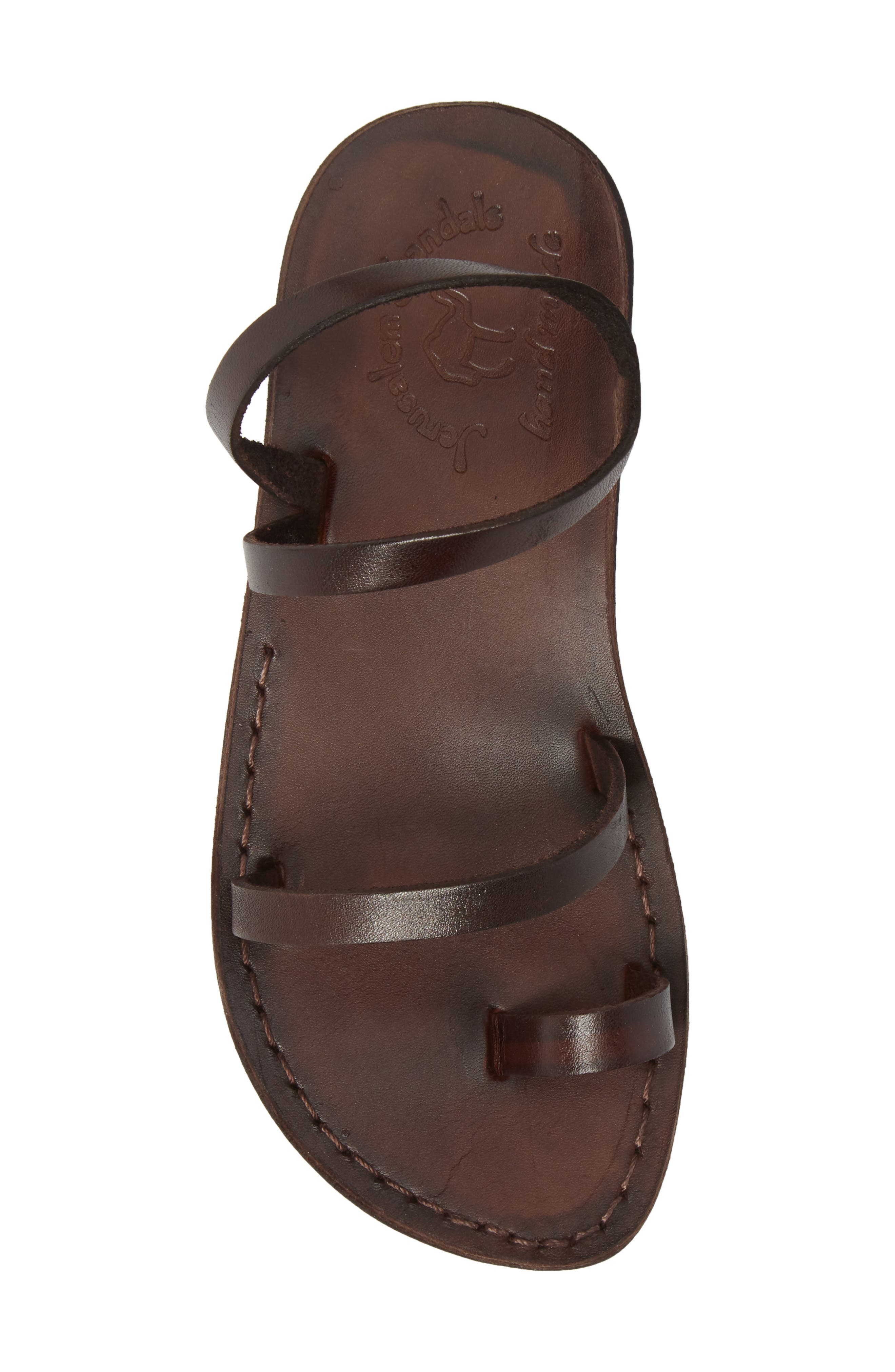 Ella Sandal,                             Alternate thumbnail 5, color,                             BROWN LEATHER
