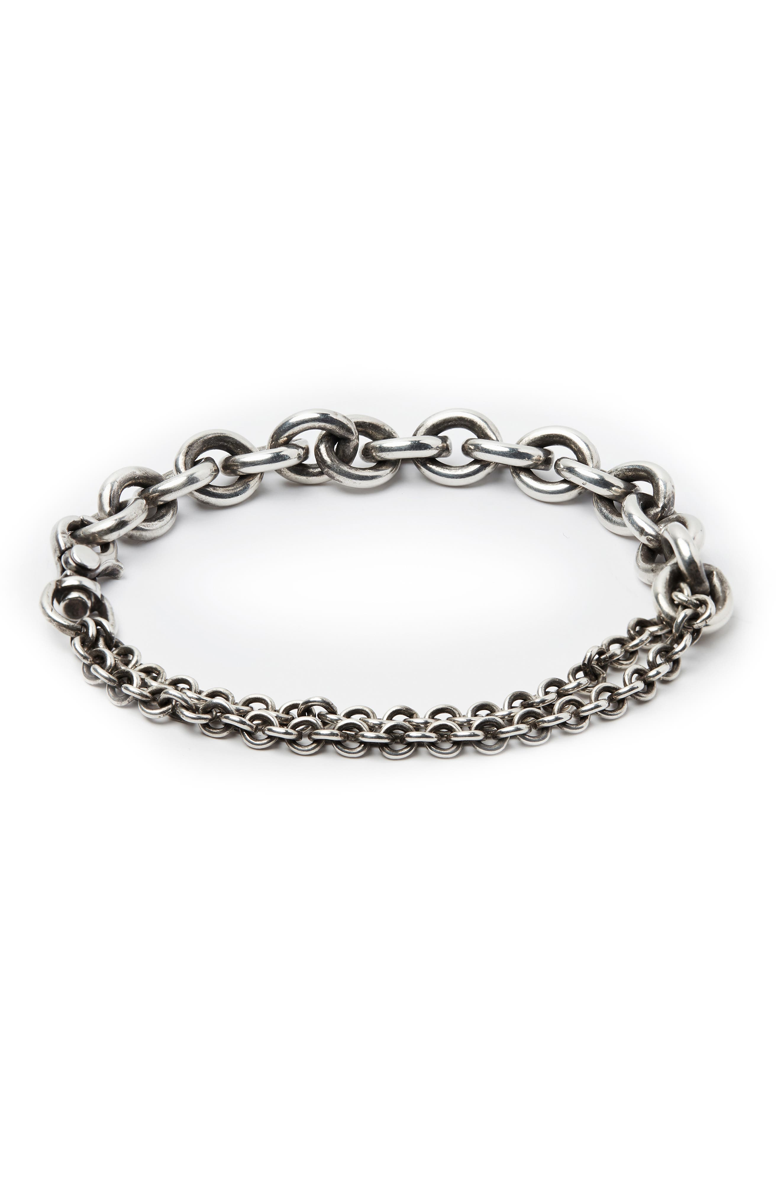 Sterling Silver Chain Wrap Bracelet,                             Main thumbnail 1, color,                             SILVER
