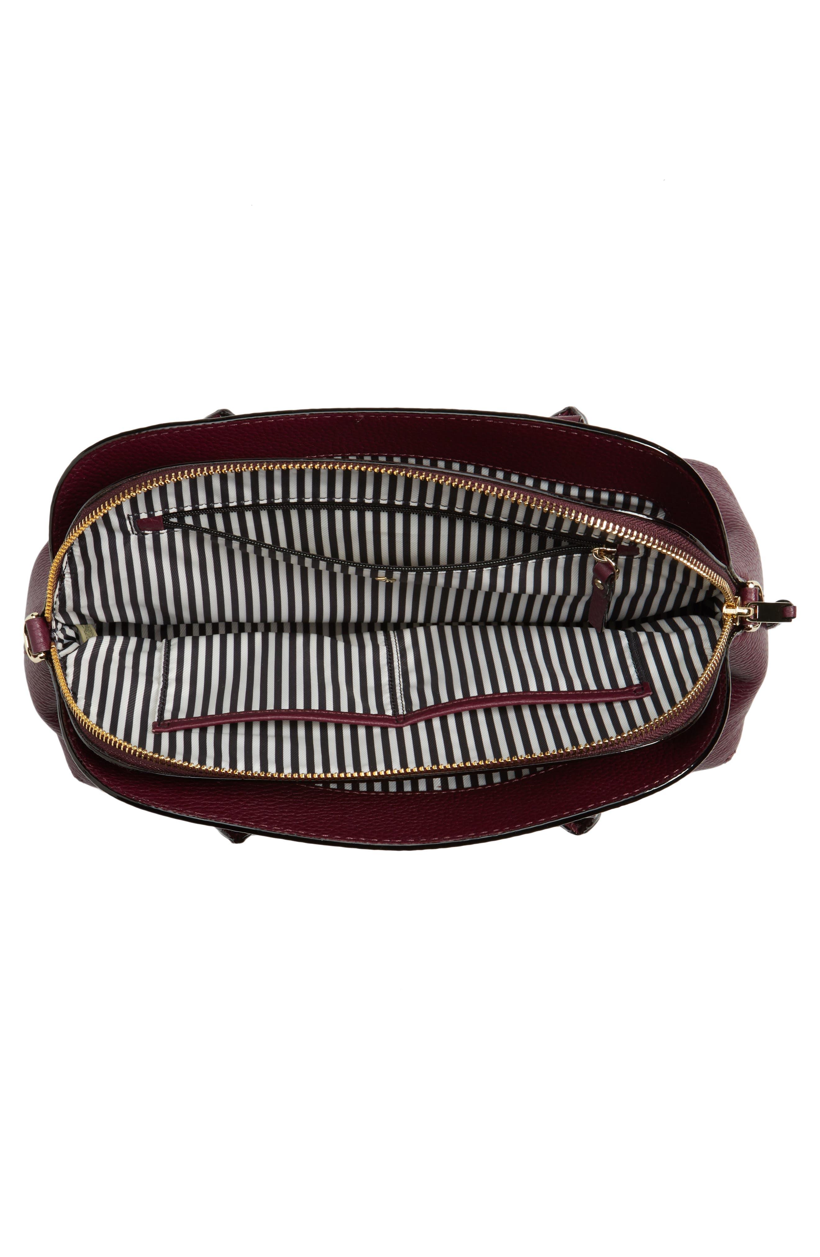 jackson street lottie leather satchel,                             Alternate thumbnail 12, color,