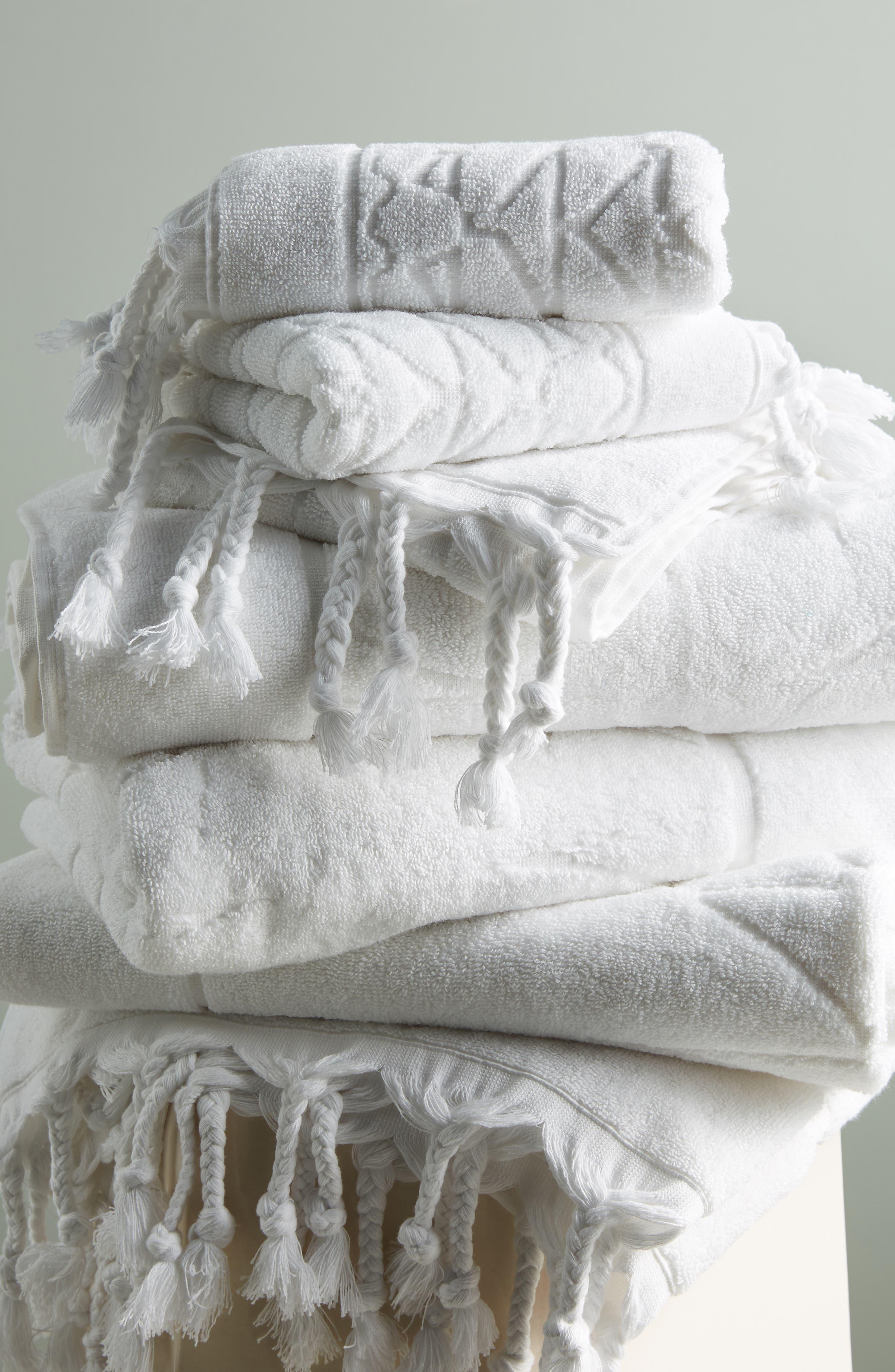 Brewer Bath Towel,                         Main,                         color, WHITE