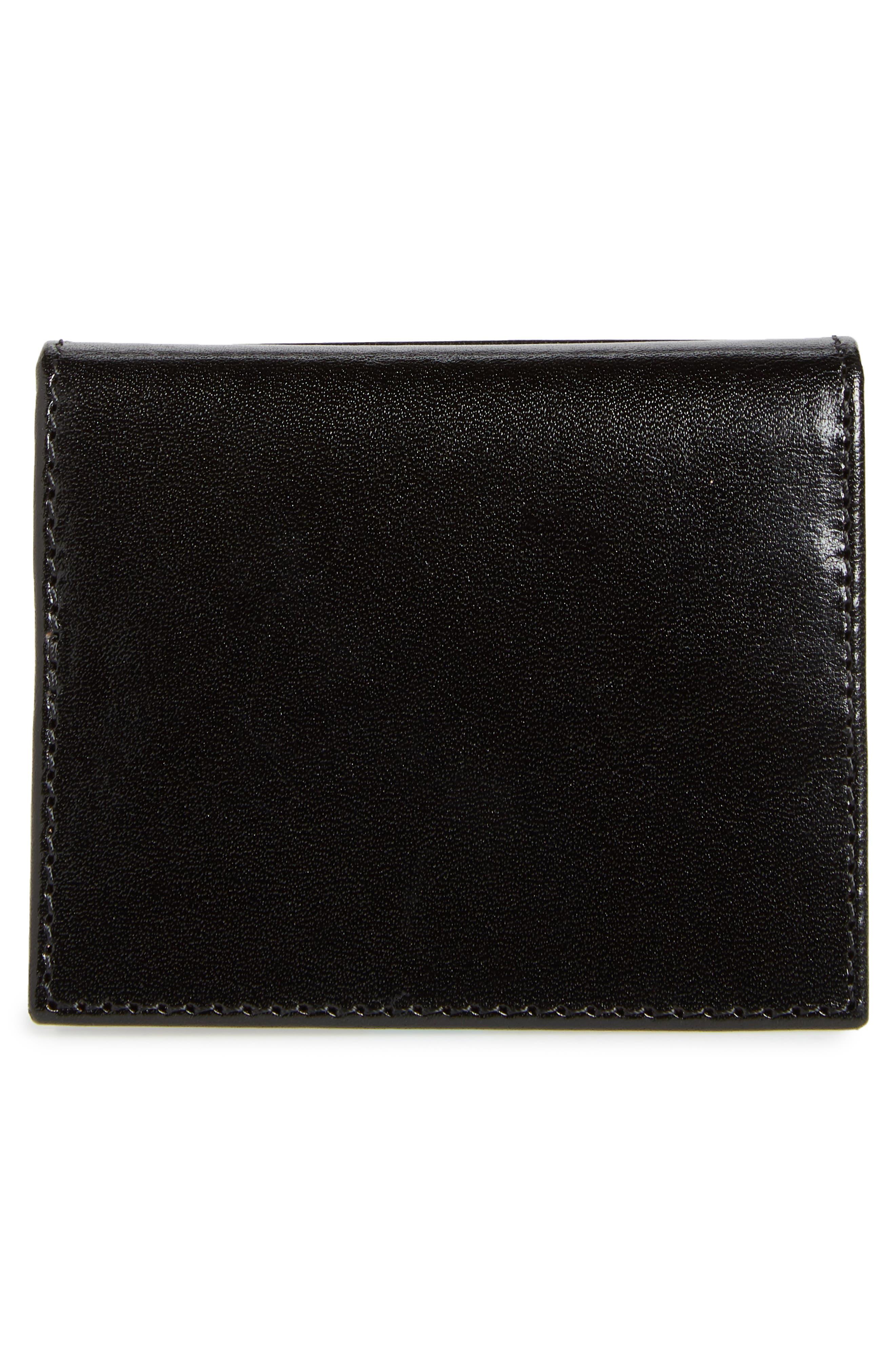 TED BAKER LONDON,                             Contrast Internals Leather Card Case,                             Alternate thumbnail 3, color,                             BLACK
