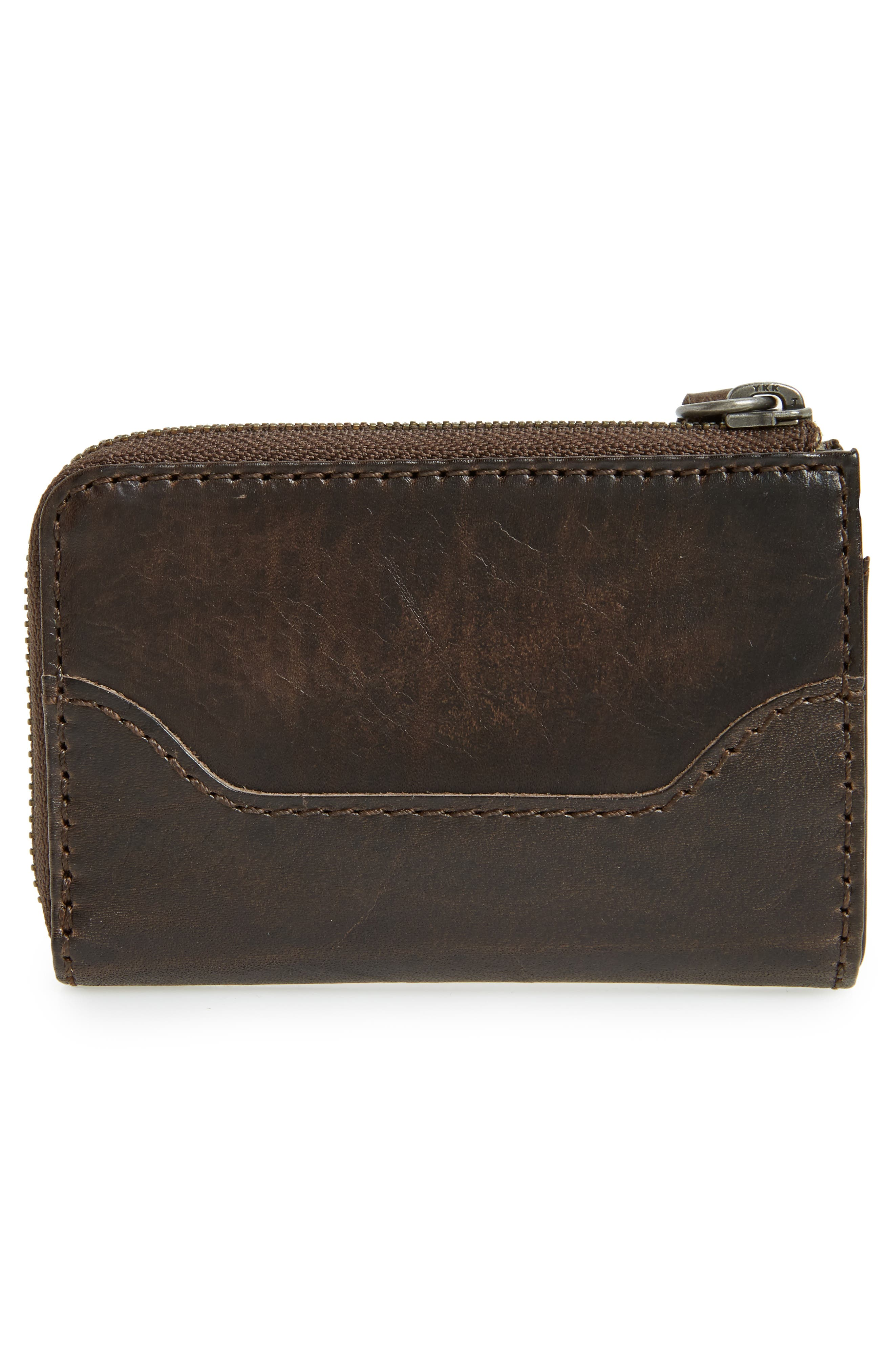Small Melissa Leather Zip Wallet,                             Alternate thumbnail 4, color,                             203