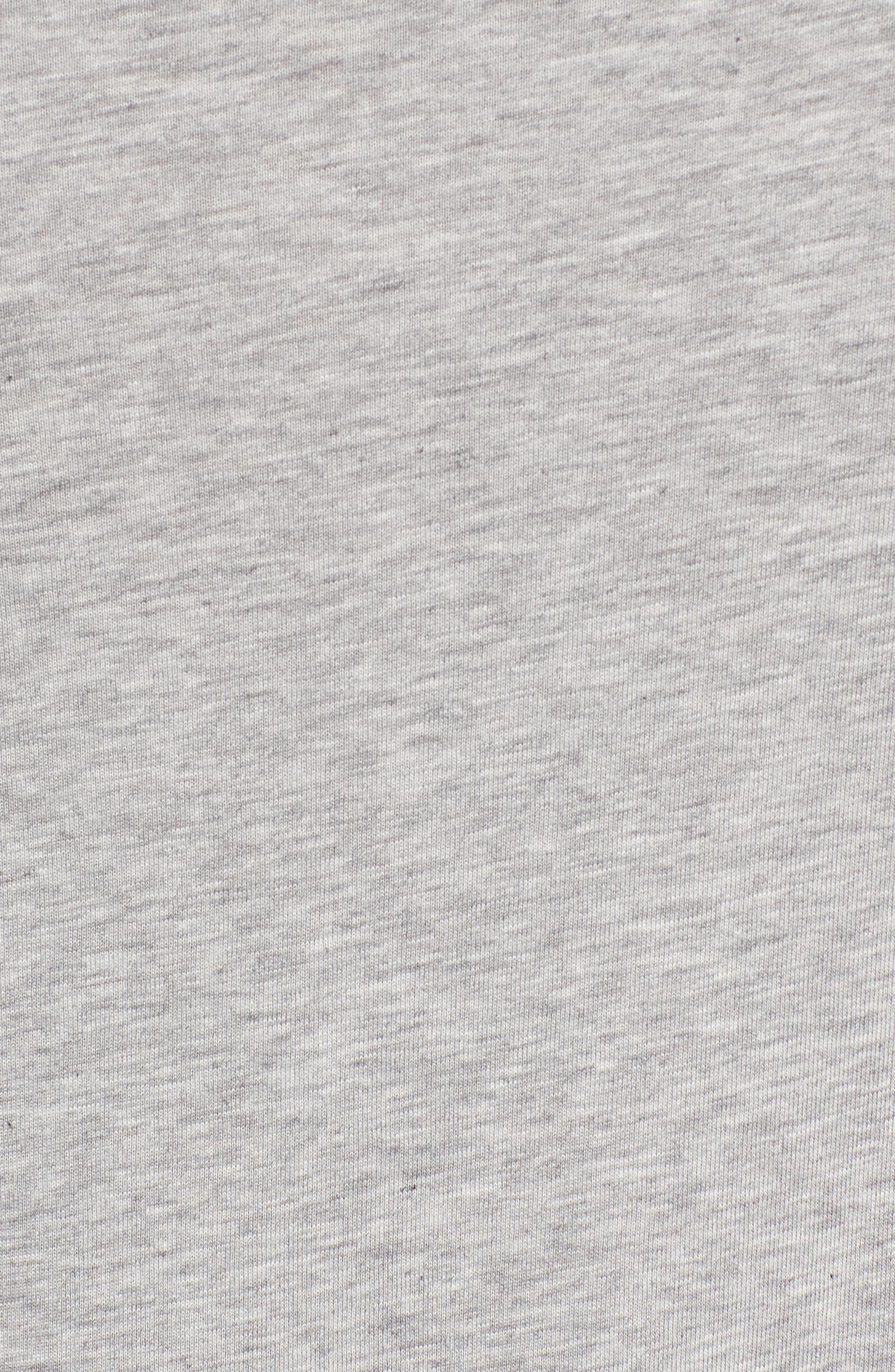 Heather Tech Crewneck T-Shirt,                             Alternate thumbnail 5, color,                             ATHLETIC GREY