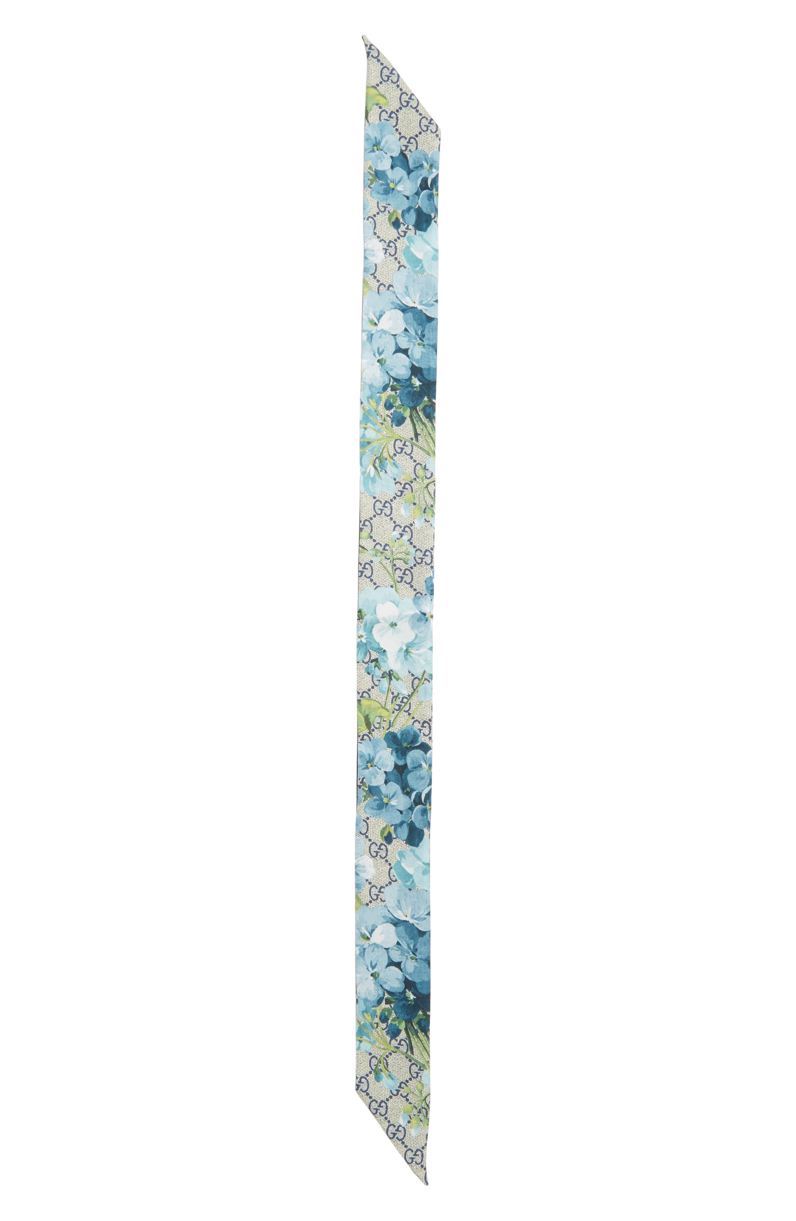 GG Blooms Skinny Scarf,                             Alternate thumbnail 2, color,