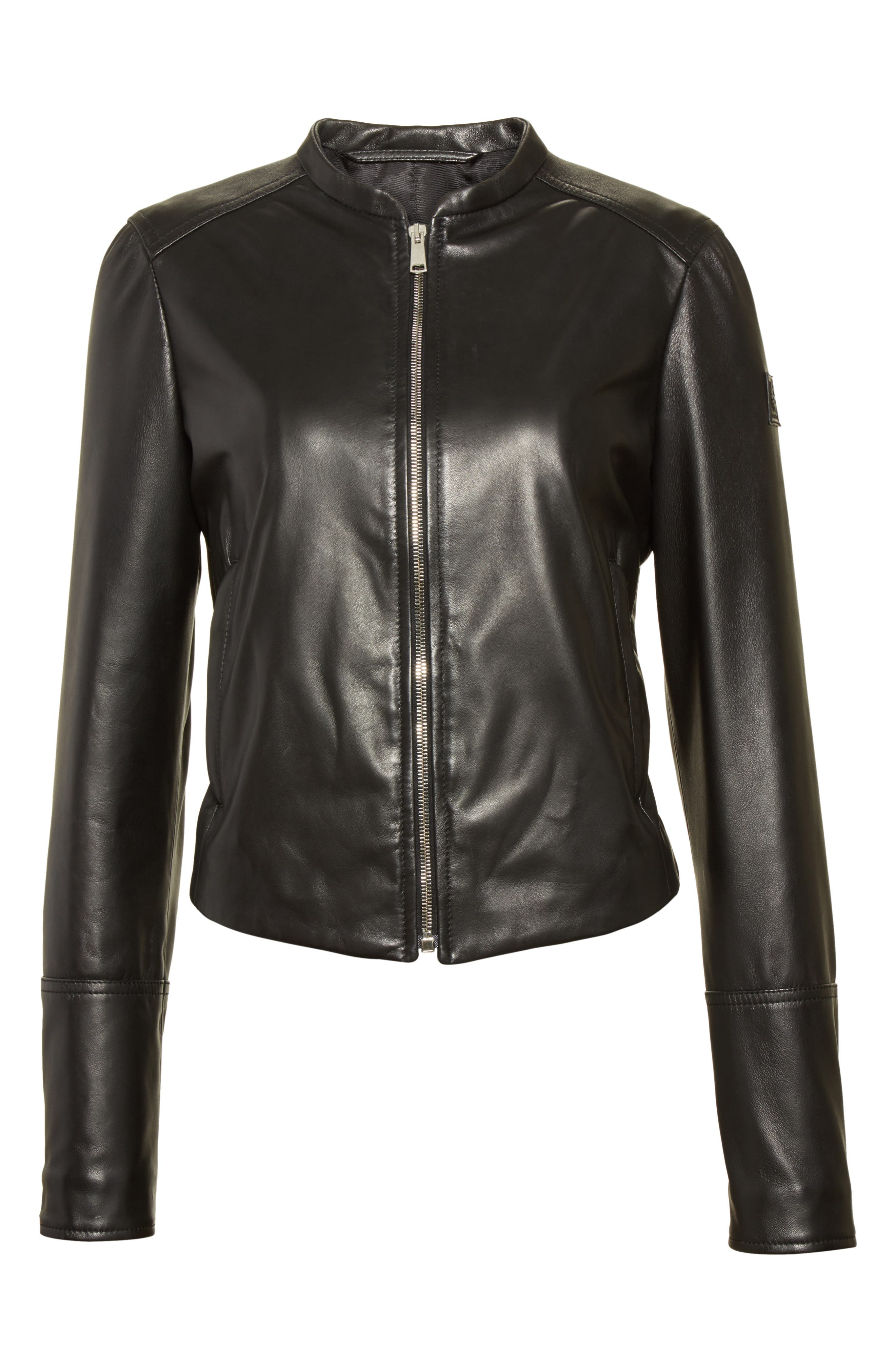 Carrack Leather Jacket,                             Alternate thumbnail 5, color,                             001