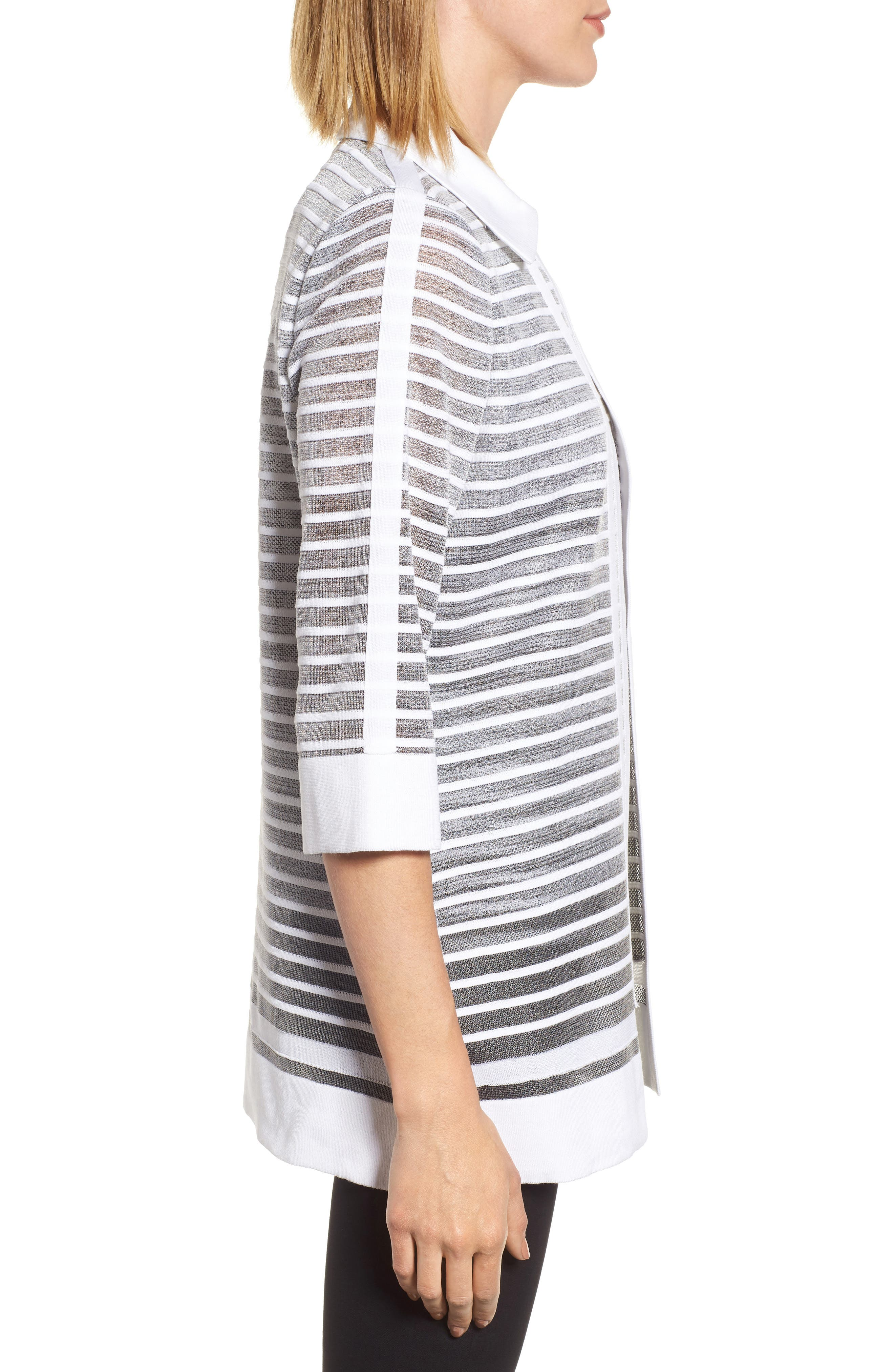 Stripe Jacquard Jacket,                             Alternate thumbnail 3, color,                             102
