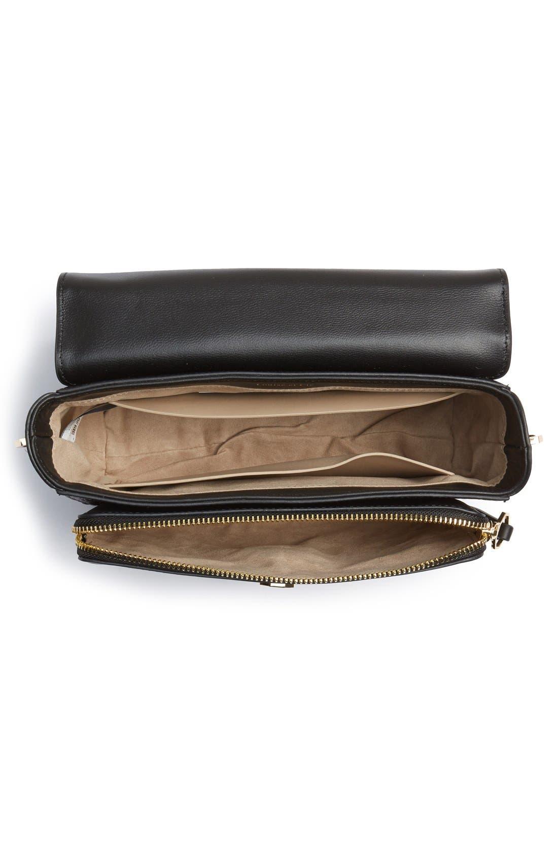 'Small Alis' Leather Crossbody Bag,                             Alternate thumbnail 6, color,                             001