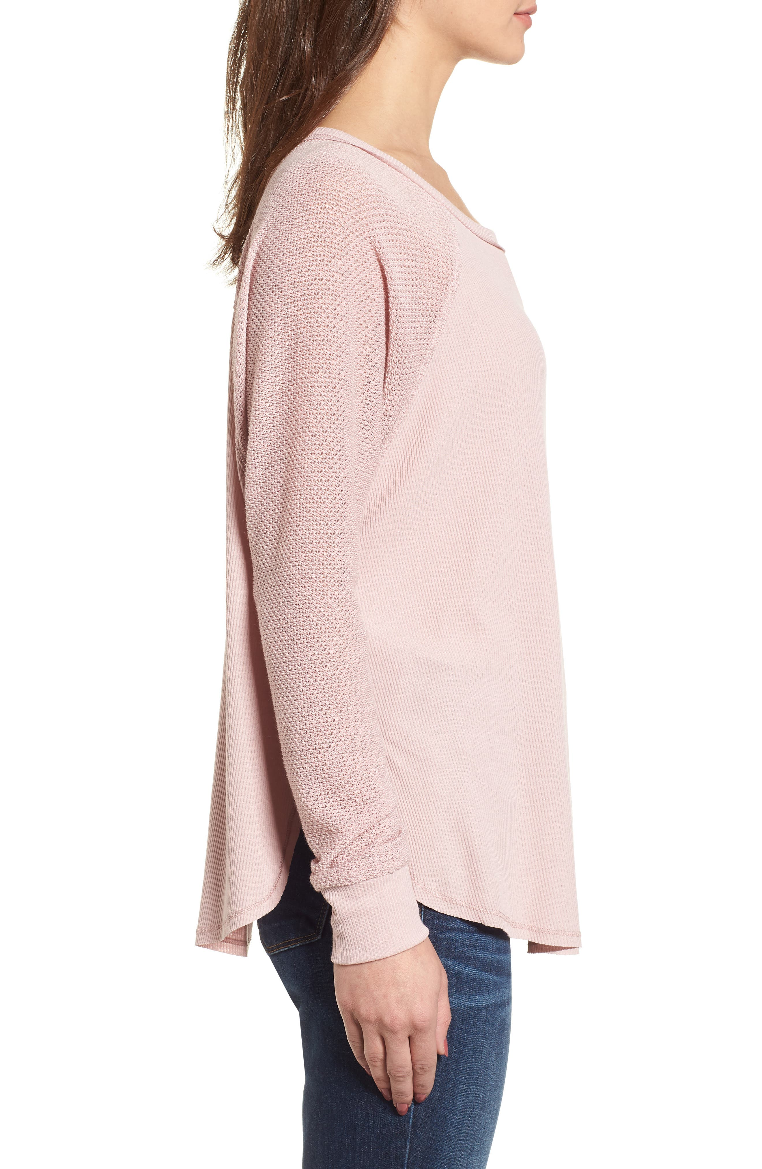 Contrast Sleeve Thermal Top,                             Alternate thumbnail 6, color,