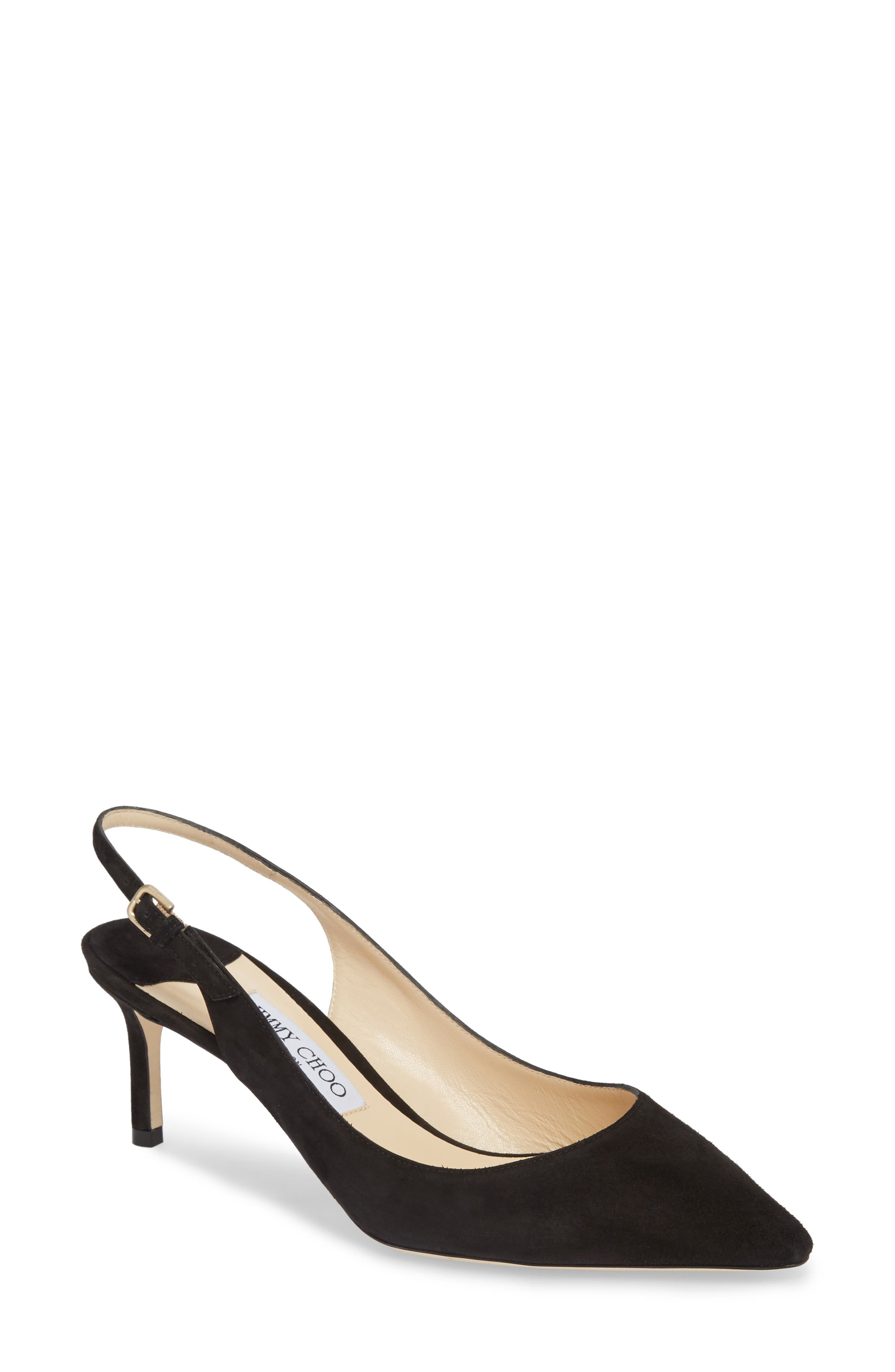 Erin Pointy Toe Slingback Pump,                         Main,                         color, BLACK