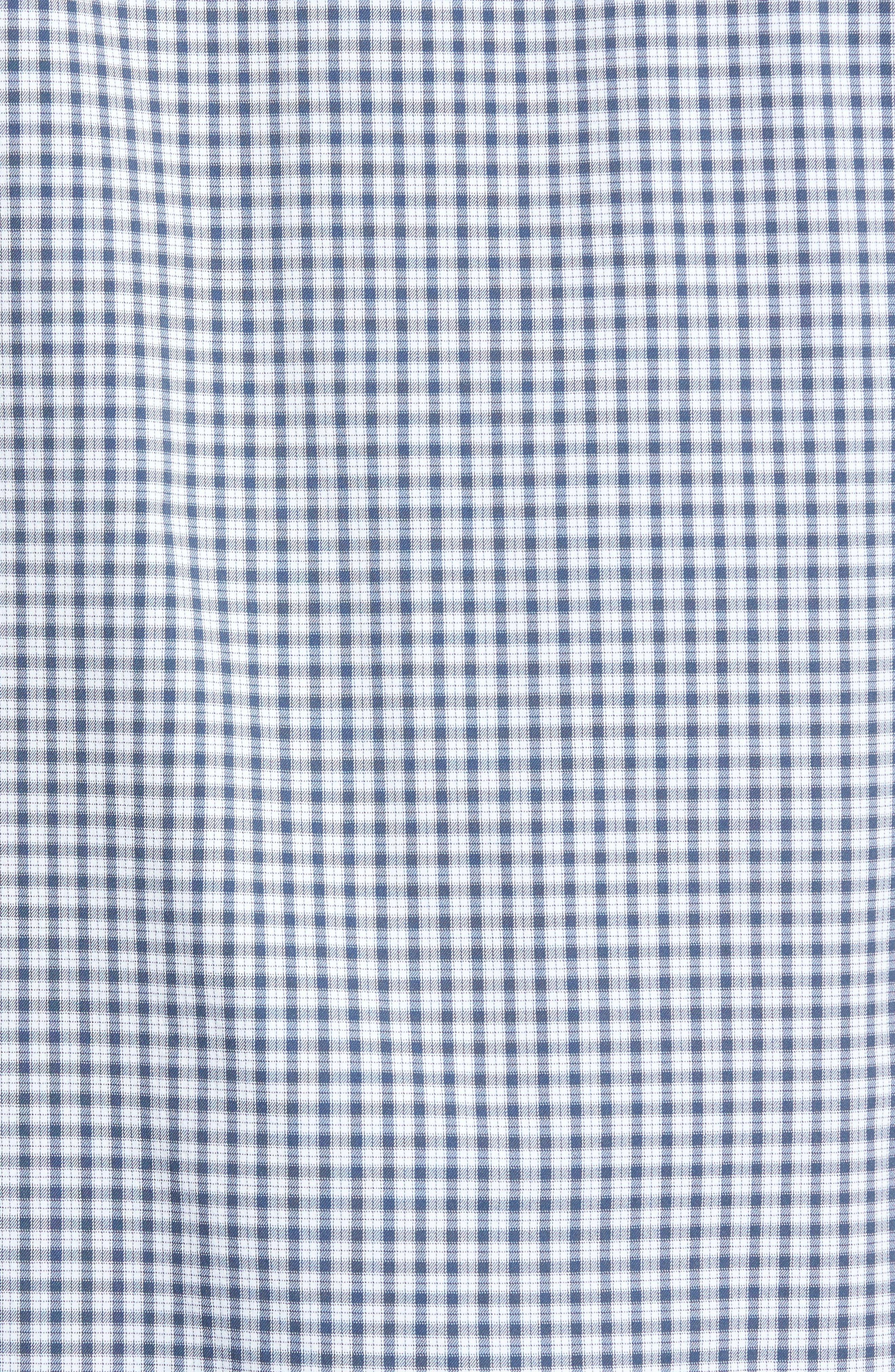 Barker Trim Fit Plaid Sport Shirt,                             Alternate thumbnail 5, color,                             400