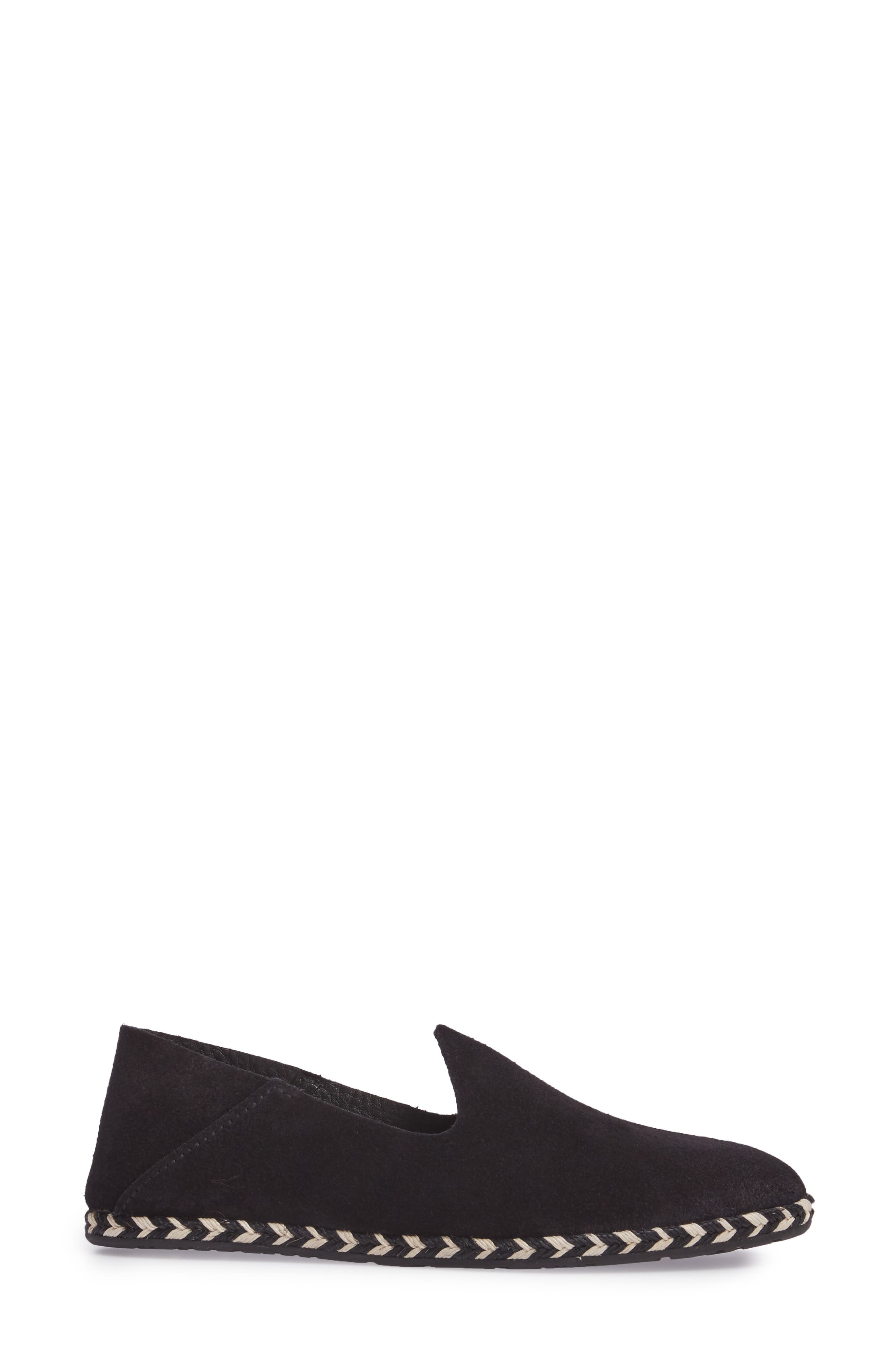 Yuli Convertible Woven Loafer,                             Alternate thumbnail 4, color,                             BLACK