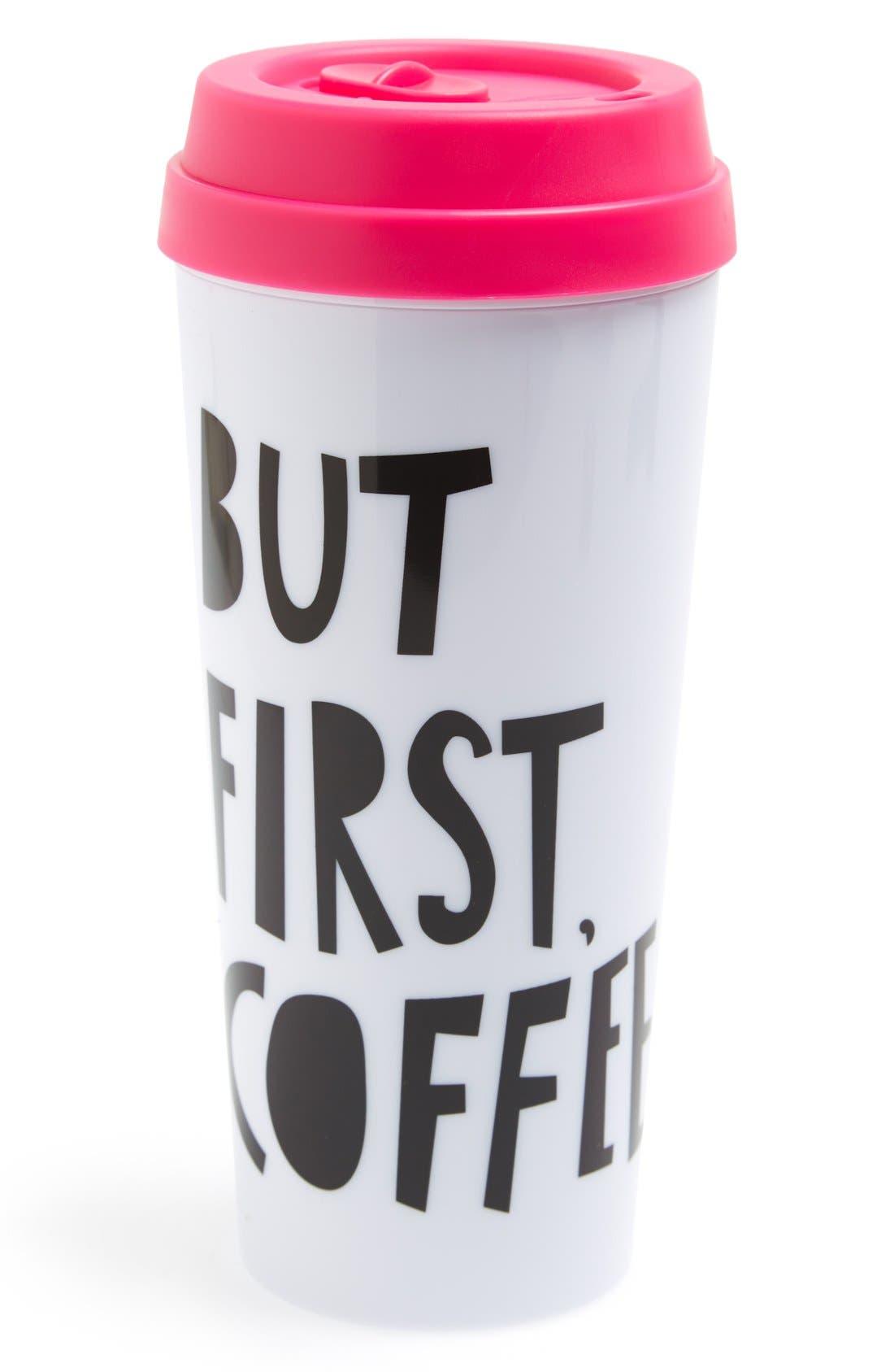 BAN.DO 'But First, Coffee' Thermal Travel Mug, Main, color, 100