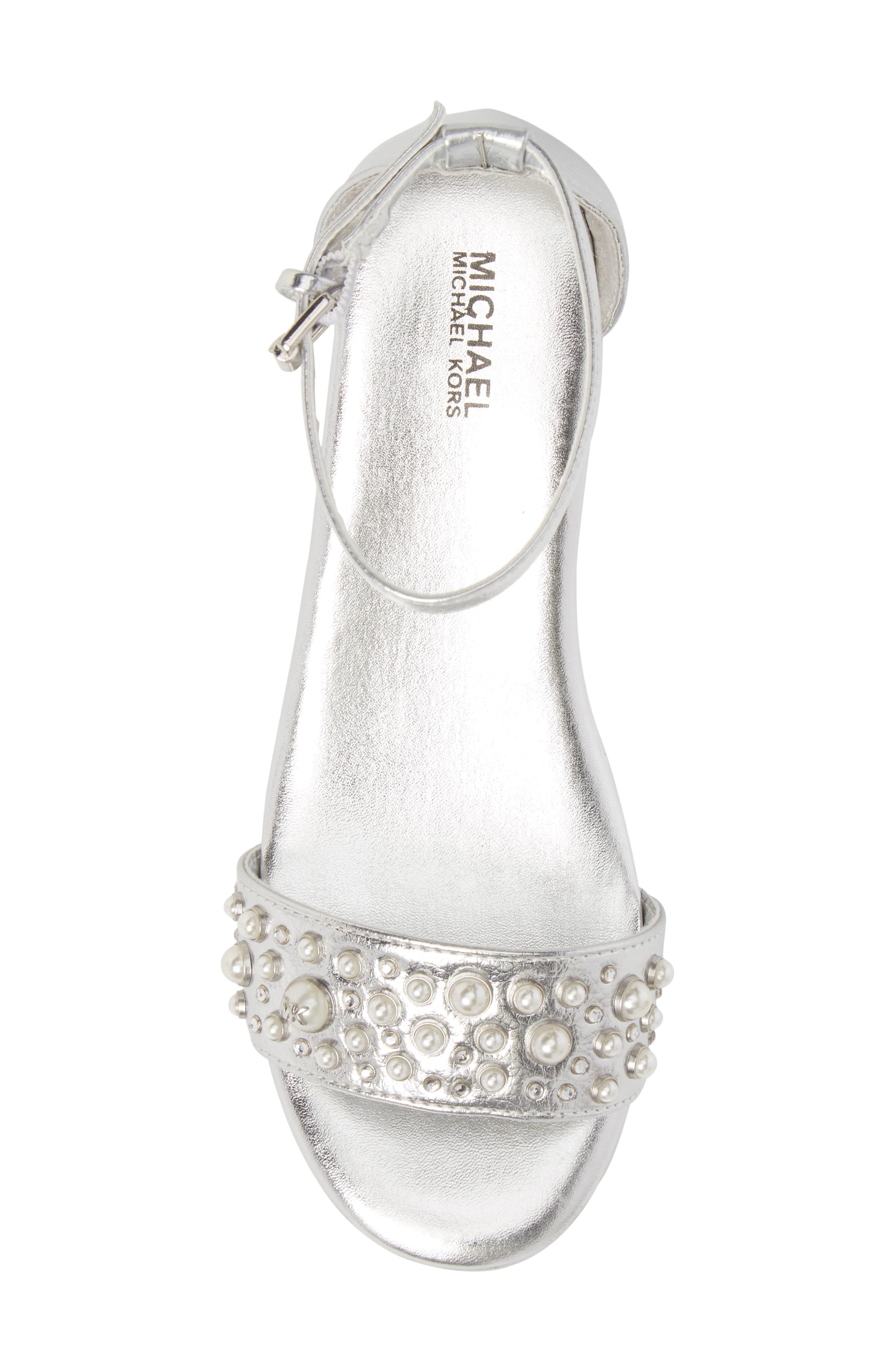 Cate Embellished Wedge Sandal,                             Alternate thumbnail 5, color,