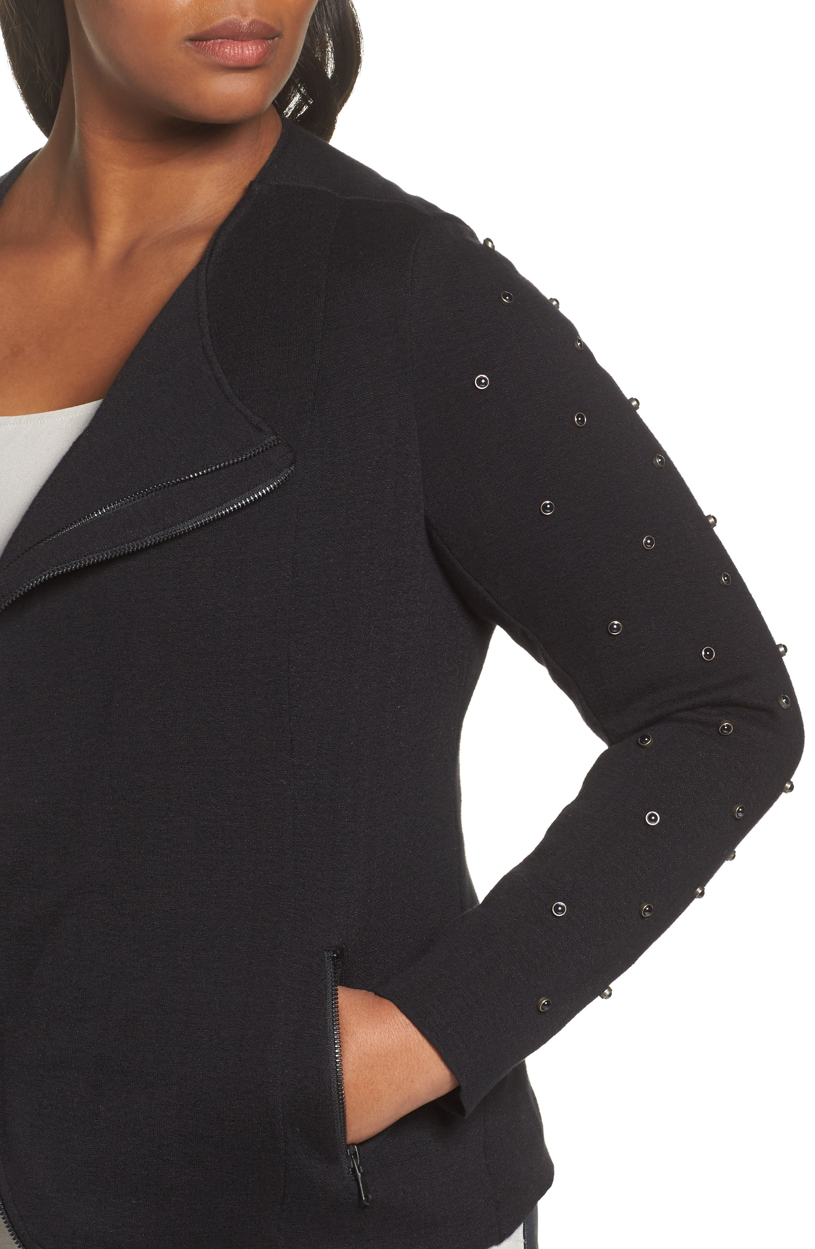 Modern Stud Jacket,                             Alternate thumbnail 4, color,                             004