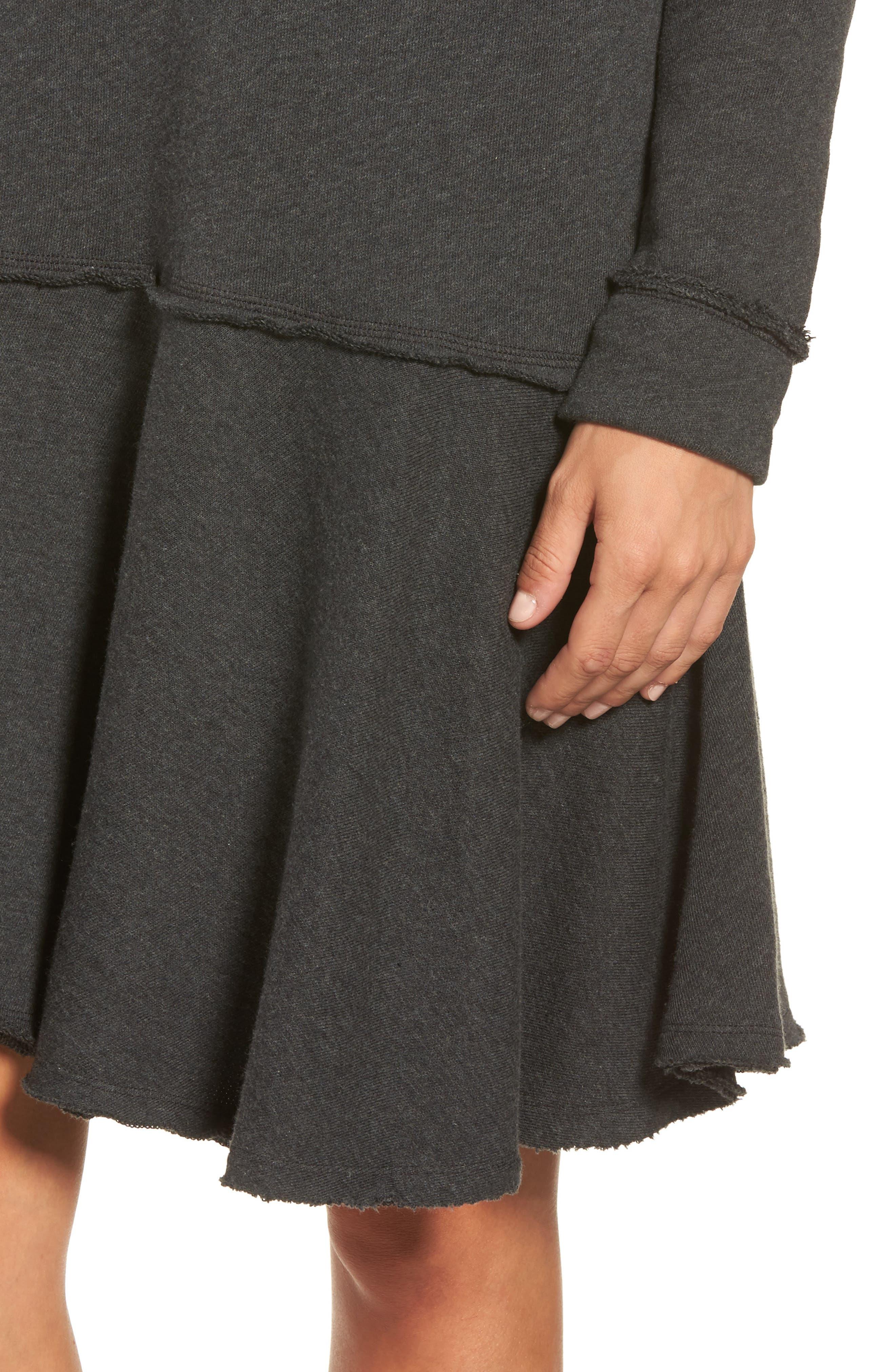 Ruffle Hem Knit Dress,                             Alternate thumbnail 4, color,                             021