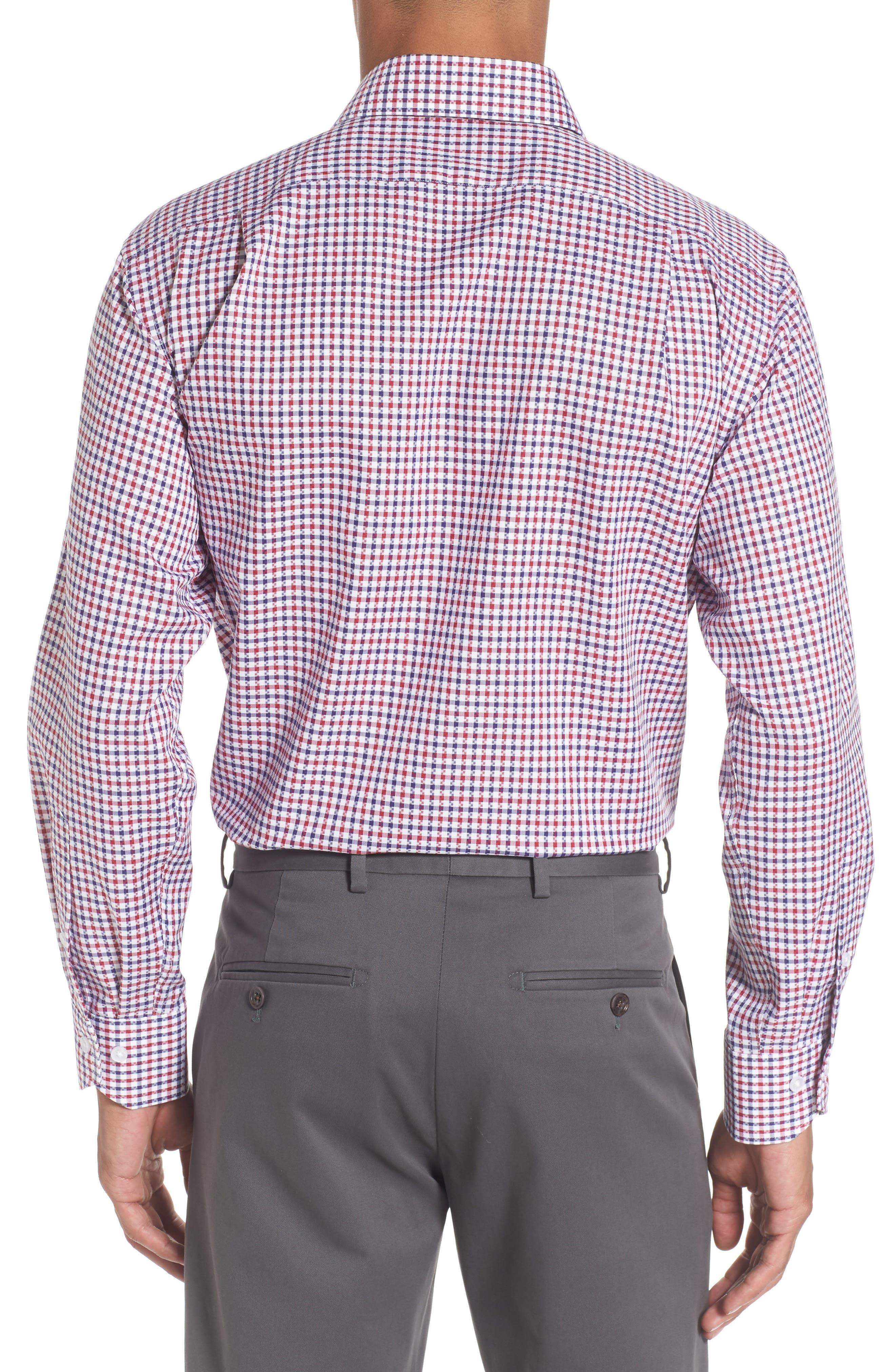 Trim Fit Check Dress Shirt,                             Alternate thumbnail 2, color,                             610