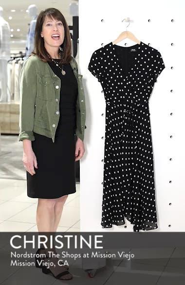 Dotted Faux Wrap Midi Dress, sales video thumbnail
